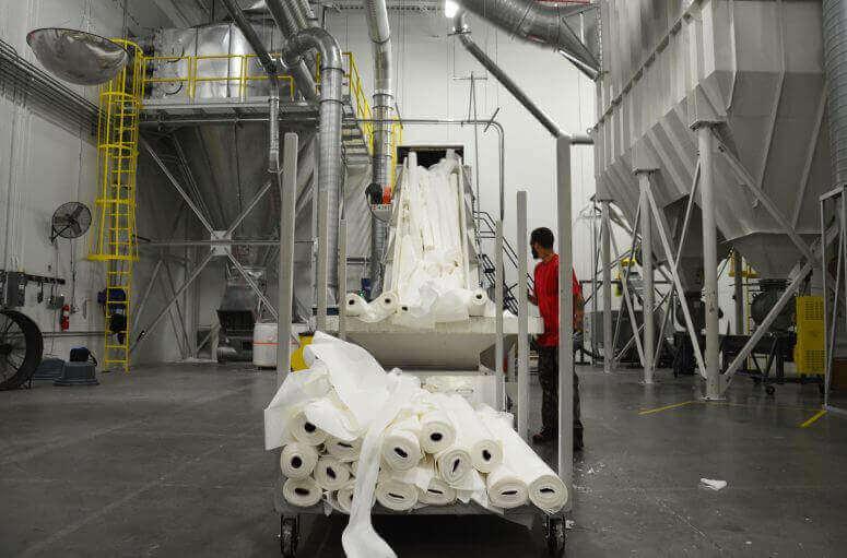 tissue plant uses WEIMA shredder