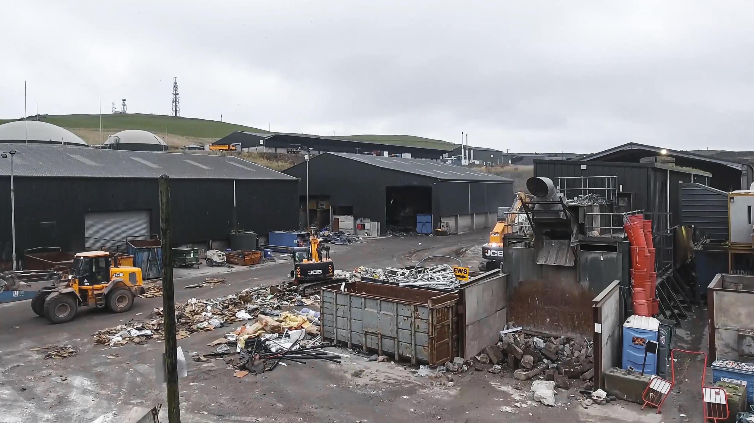 Binn Group Materialrecyclinganlage in Glenfarg, Schottland