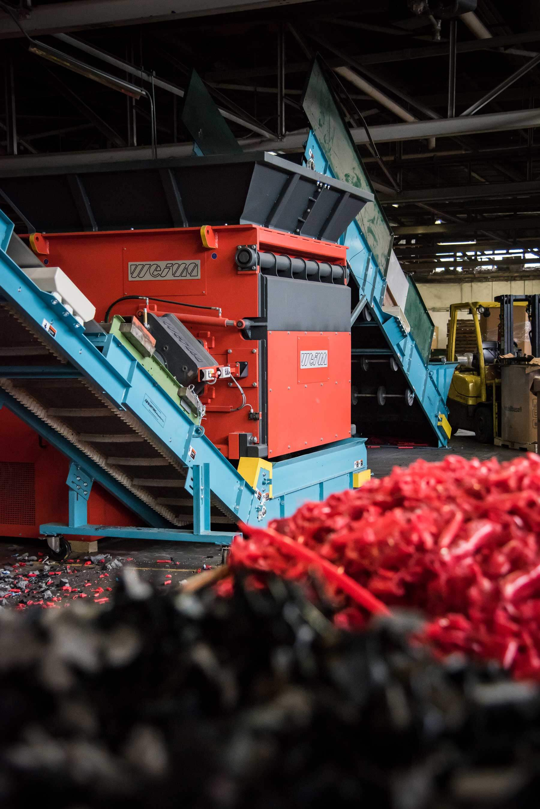 WEIMA WLK 20 Super Jumbo Shredder shreds plastic waste for in-house recycling