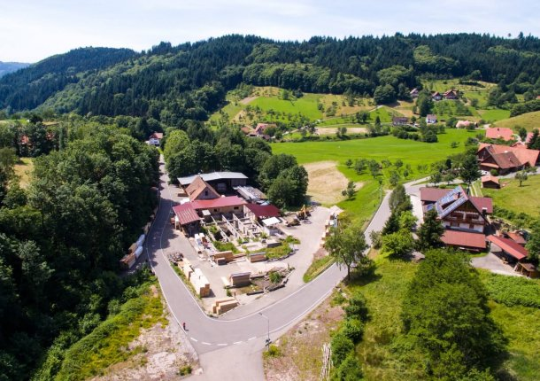 Luftaufnahme Gelände RODA Holzcenter