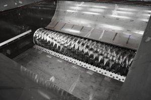Shredder Rotor mit Schneidmessern