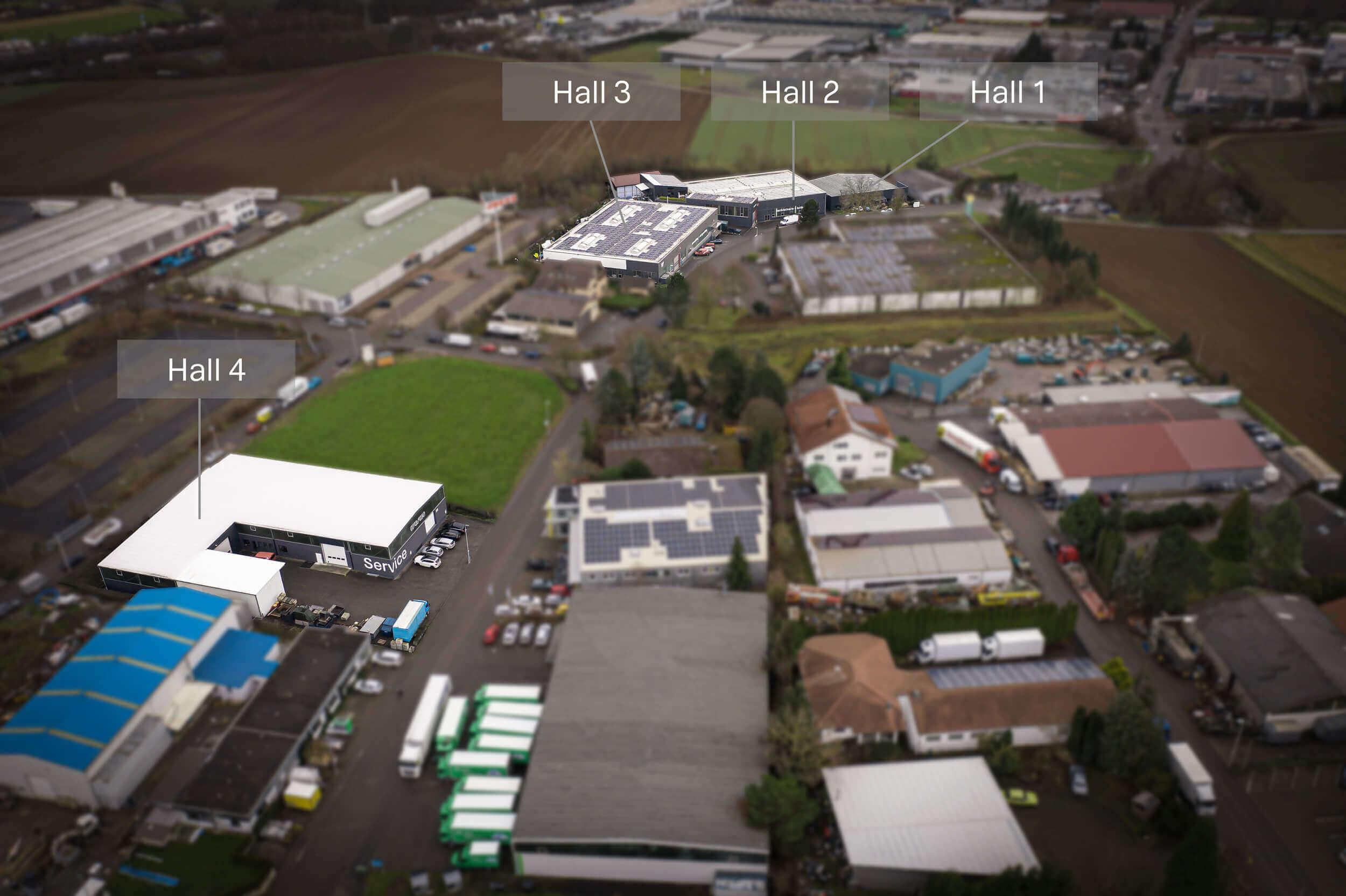WEIMA Zentrale mit Hallen 1-4
