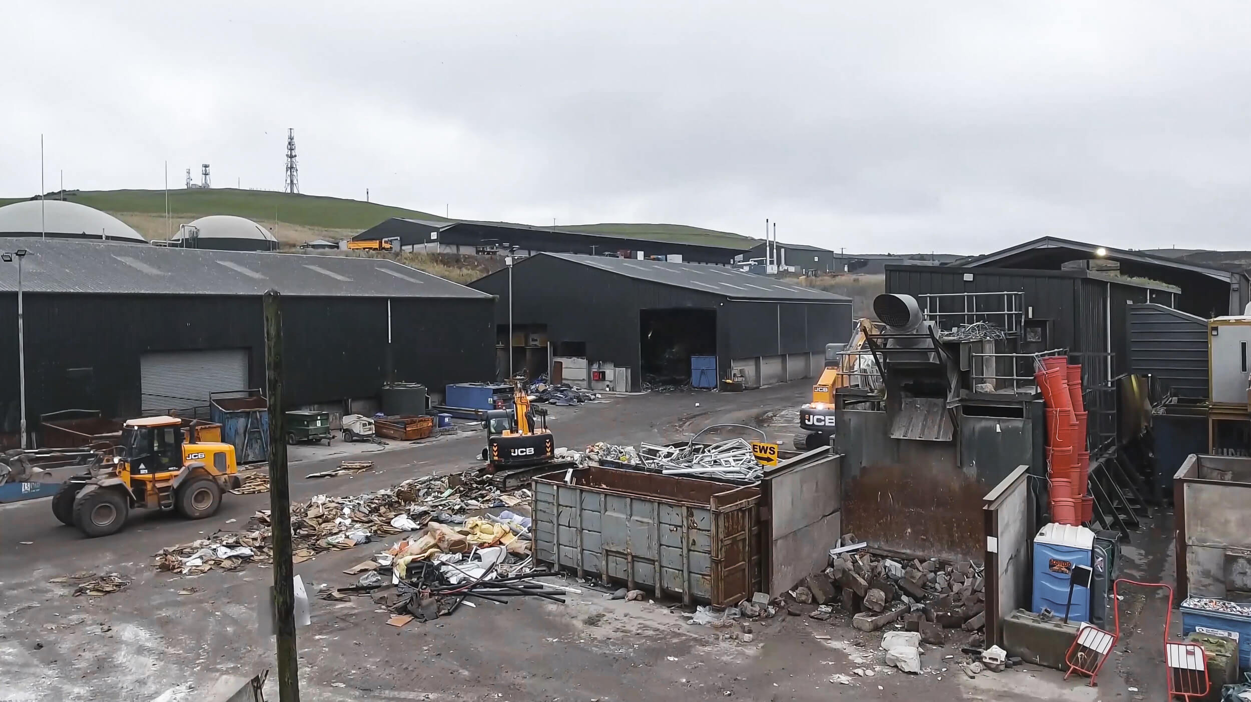 Binn Group's material recycling facility in Glenfarg, Scotland