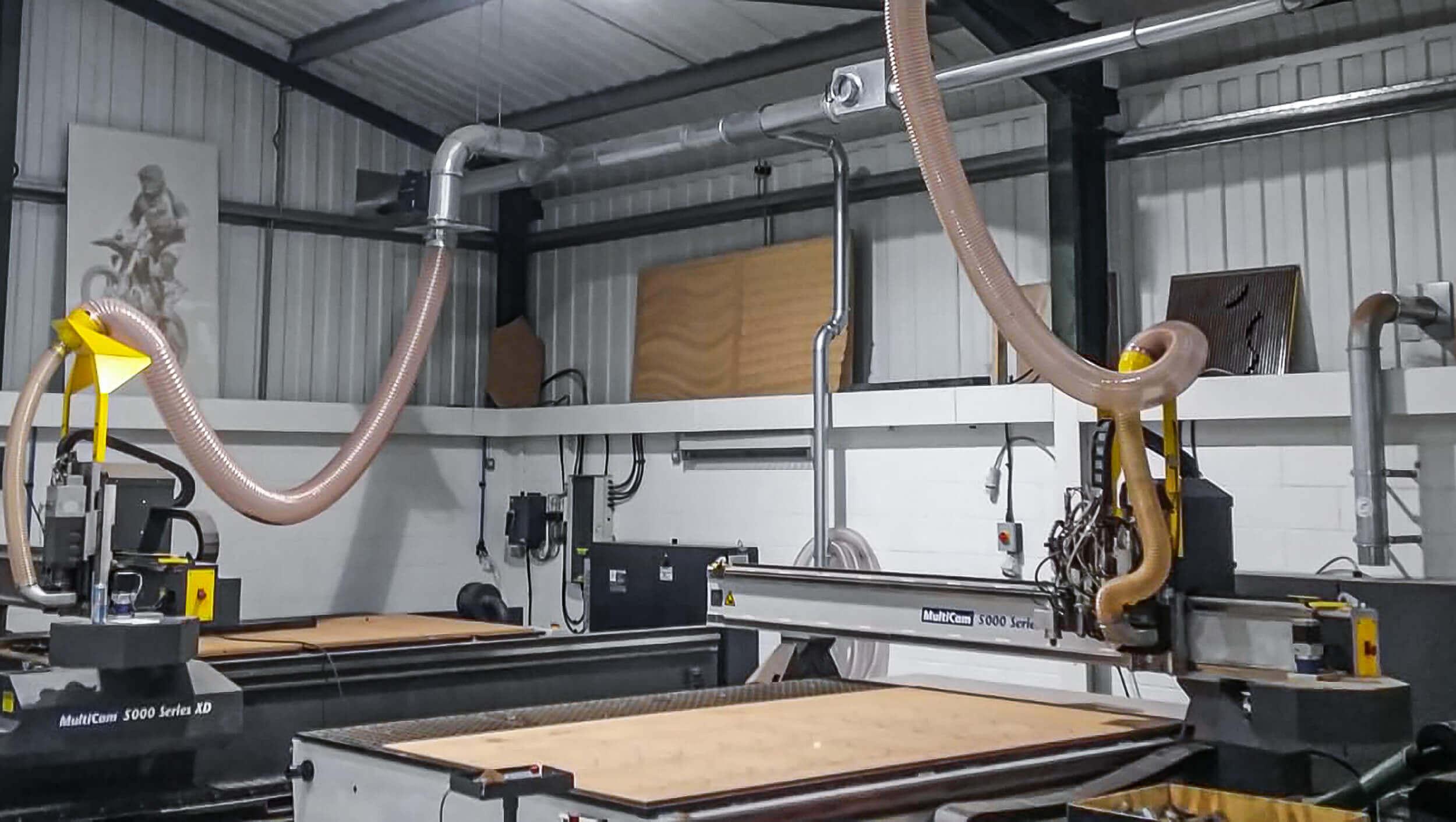 CNC Maschine mit Absaugung