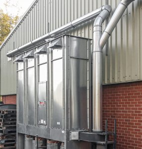 The dust extraction with filtration system