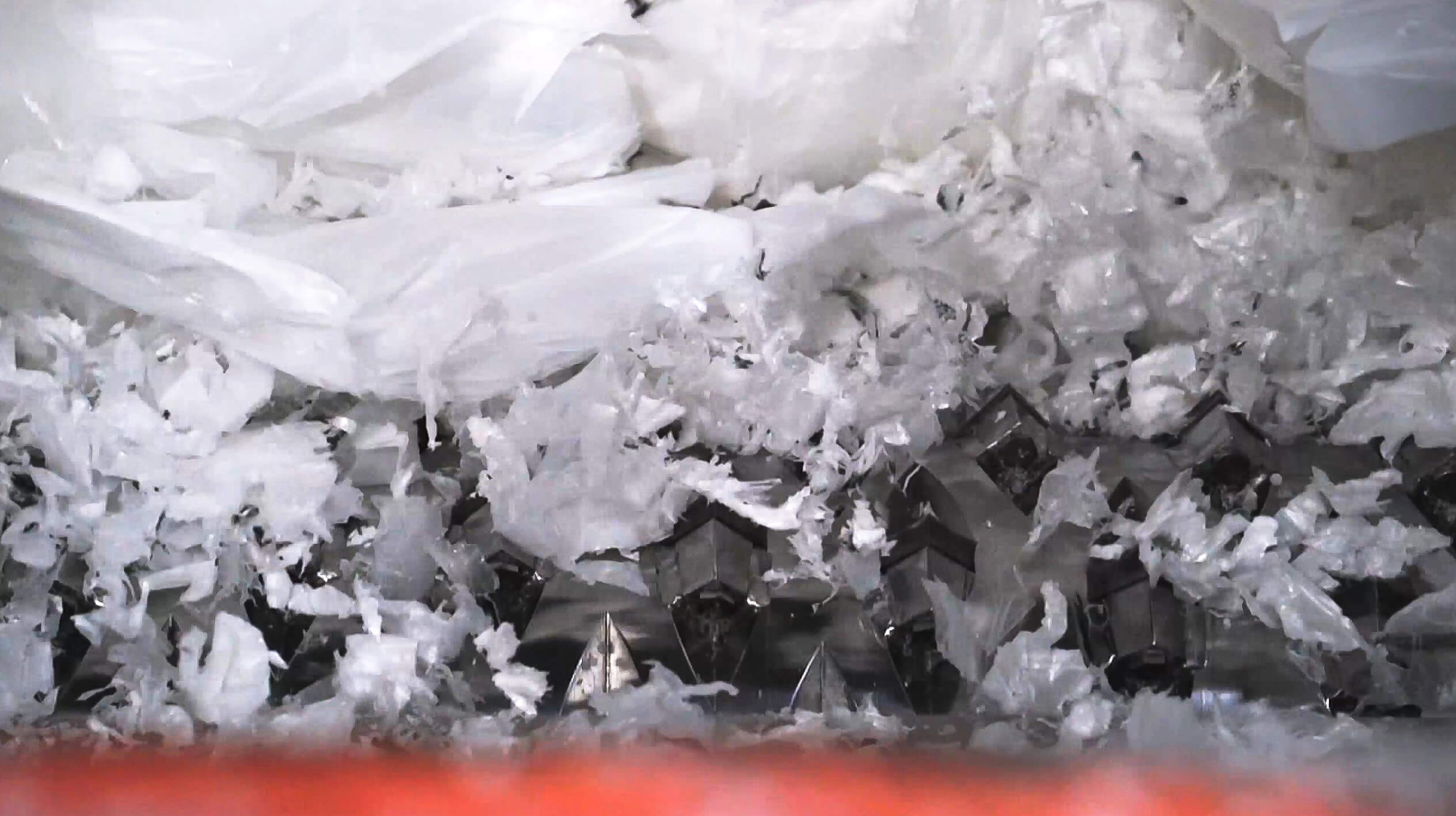 shredding of plastic