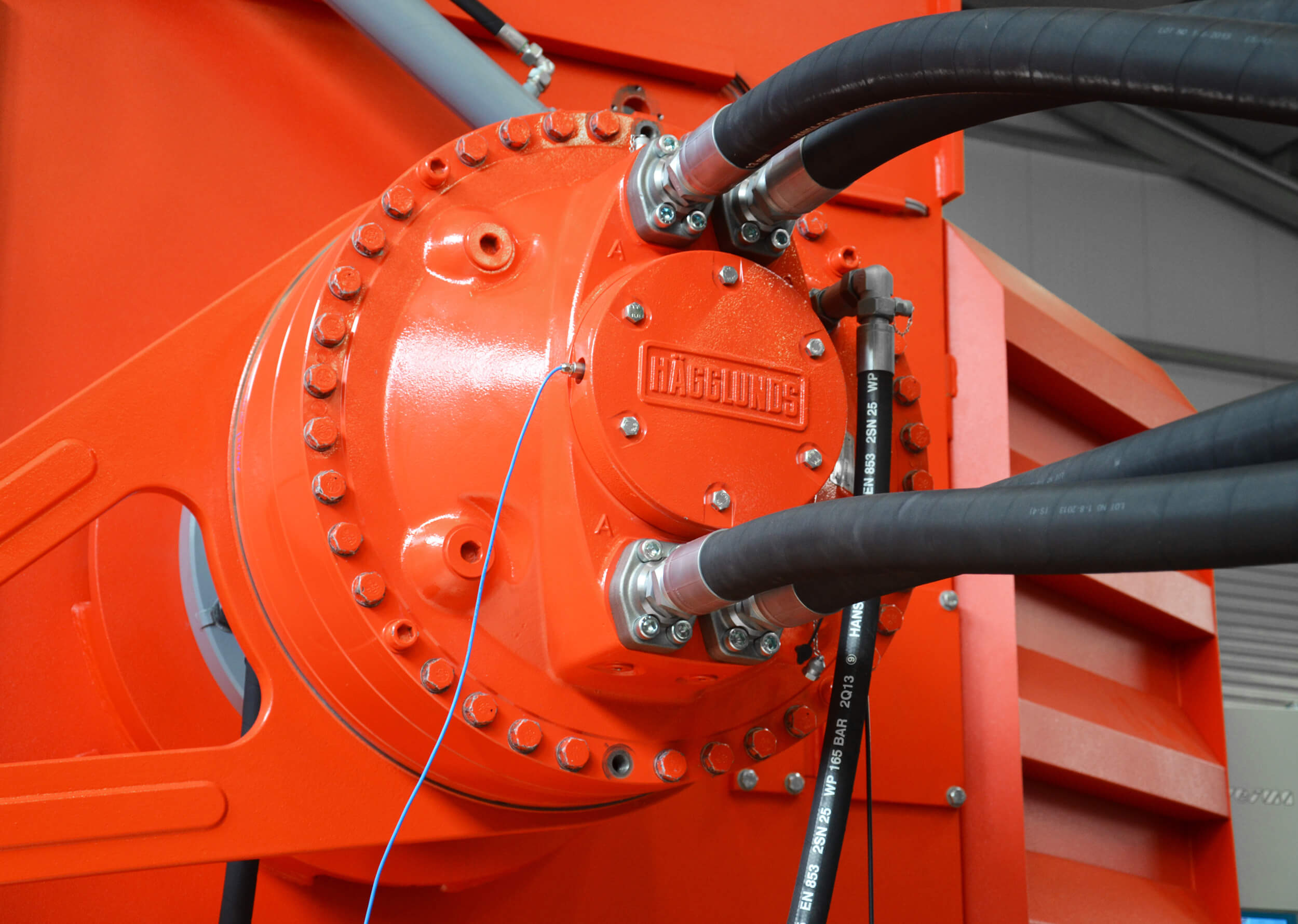 Hägglunds Hydraulic Drive System on WEIMA PreCut shredder