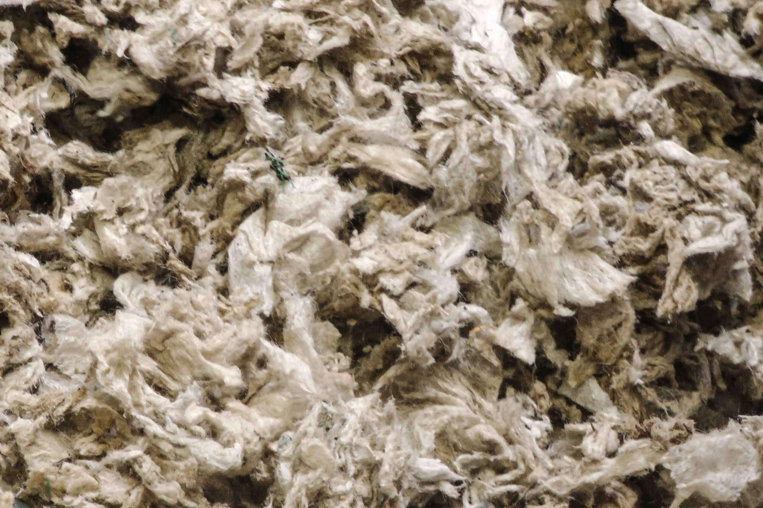 Even the dirty agriculture nonwoven material can be shredded and recycled