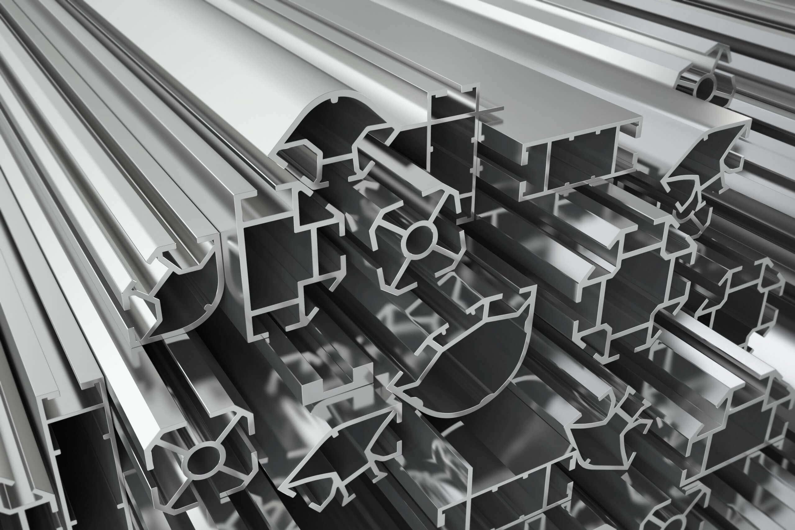 Aluminum profiles before shredding