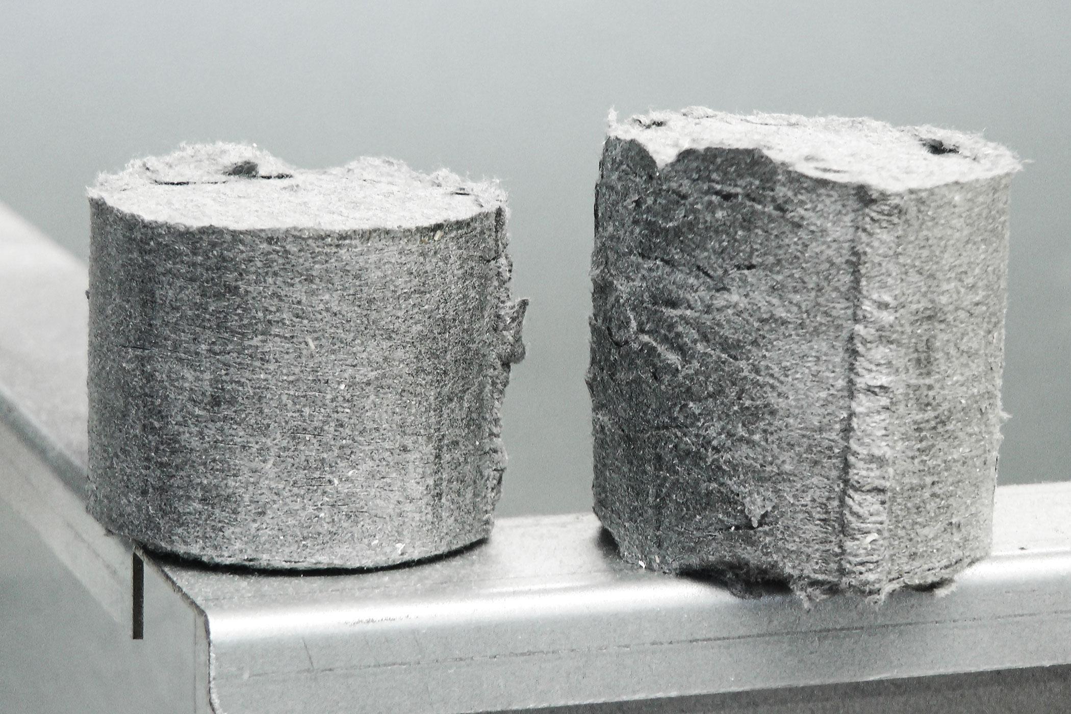 Briketts aus Baumwolle Staub