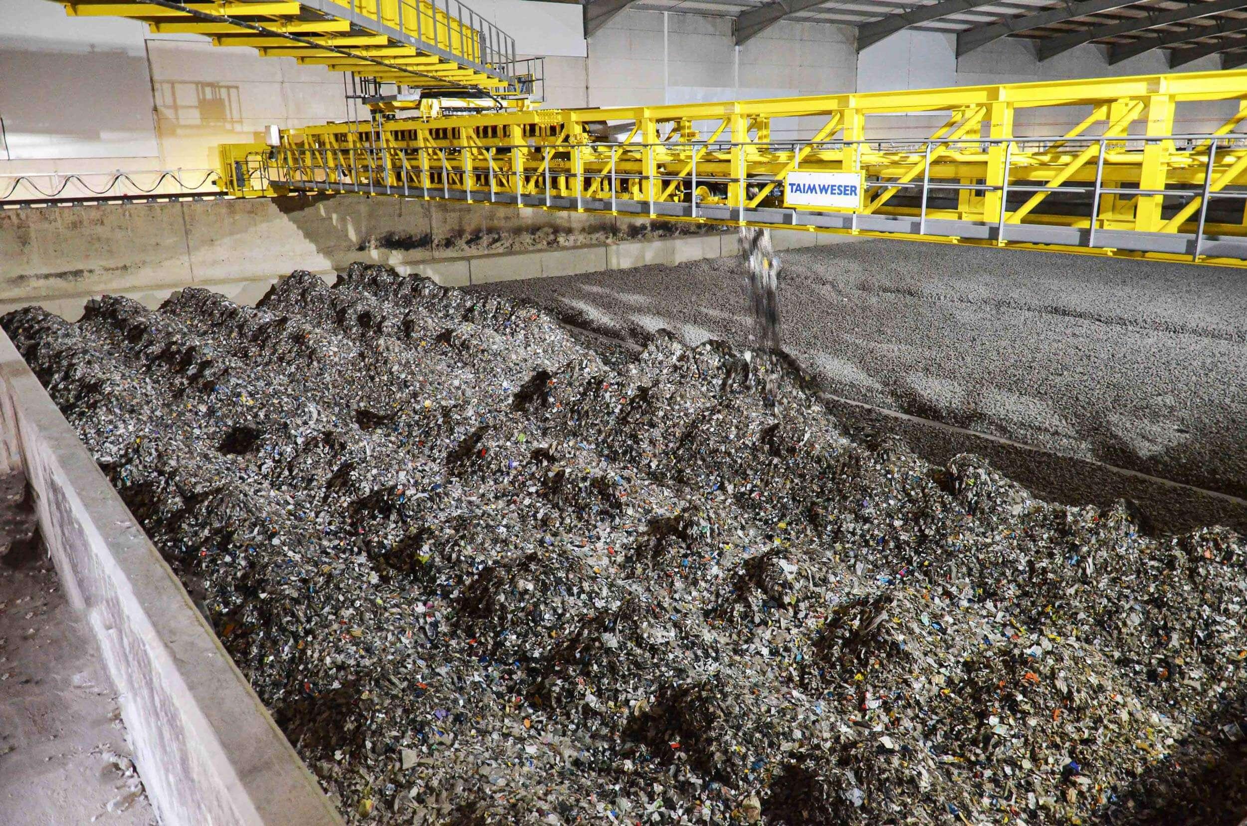 Ersatzbrennstoff (EBS) wird in Silo gelagert