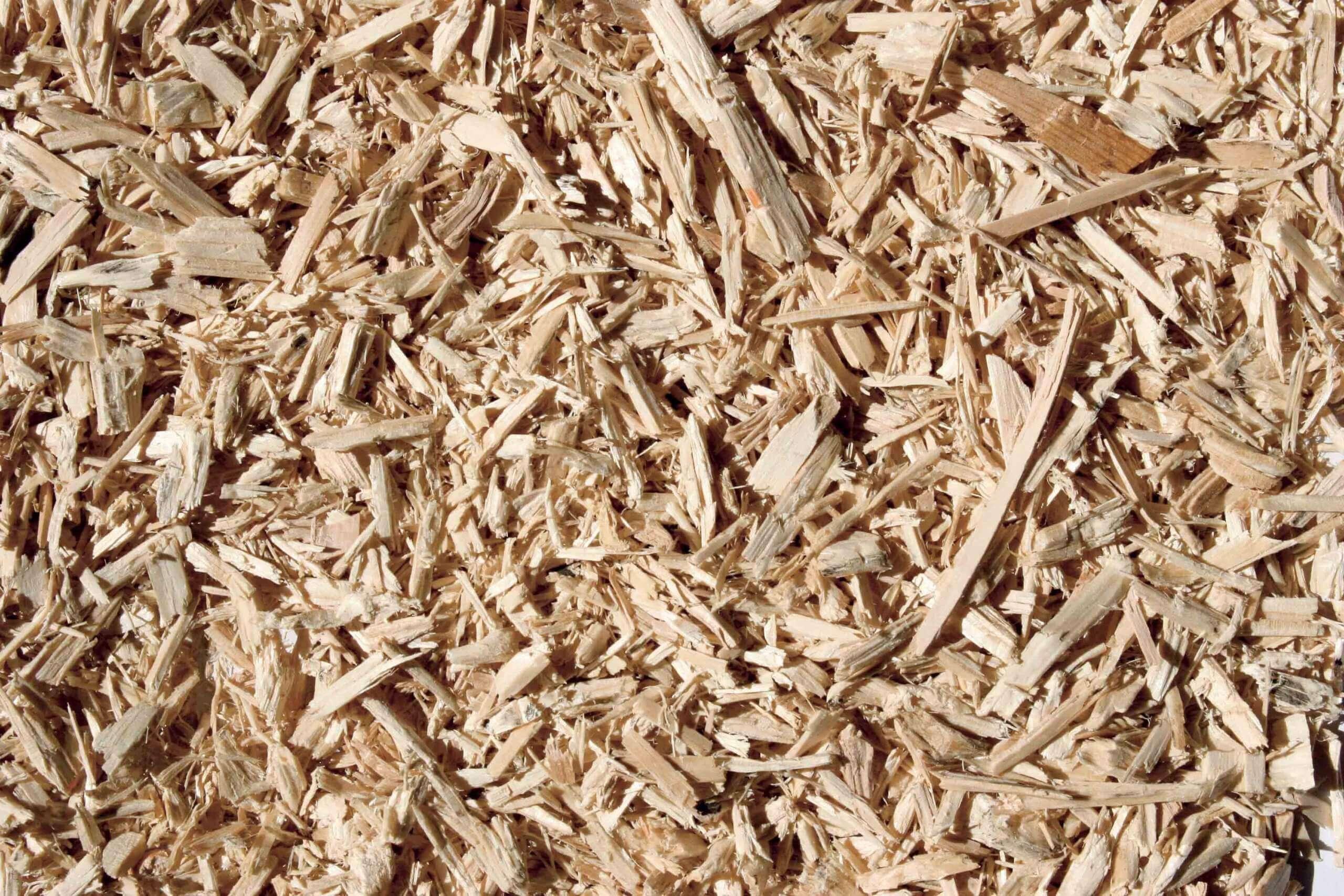 Shredded wood scrap