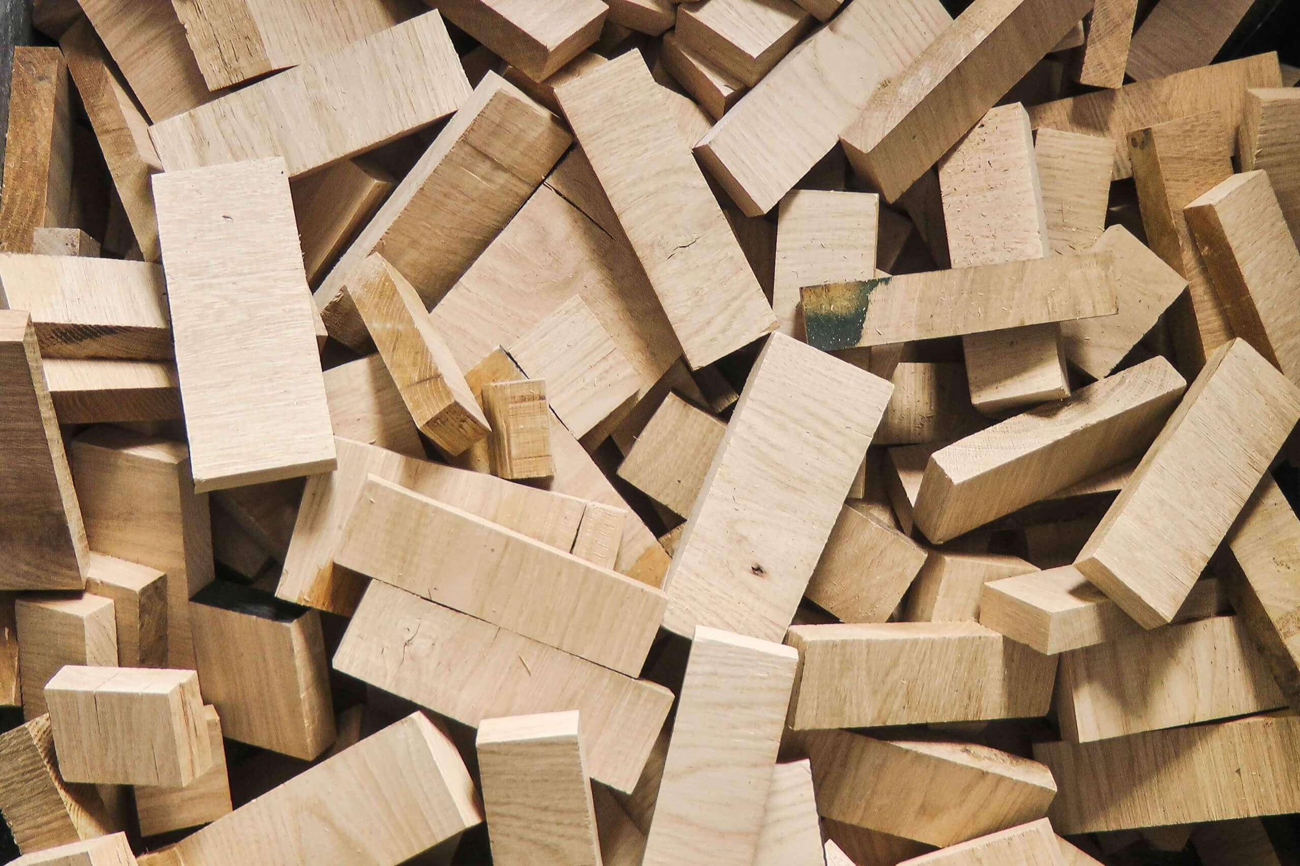 Wood scrap such as squared timber and hardwood cuttings