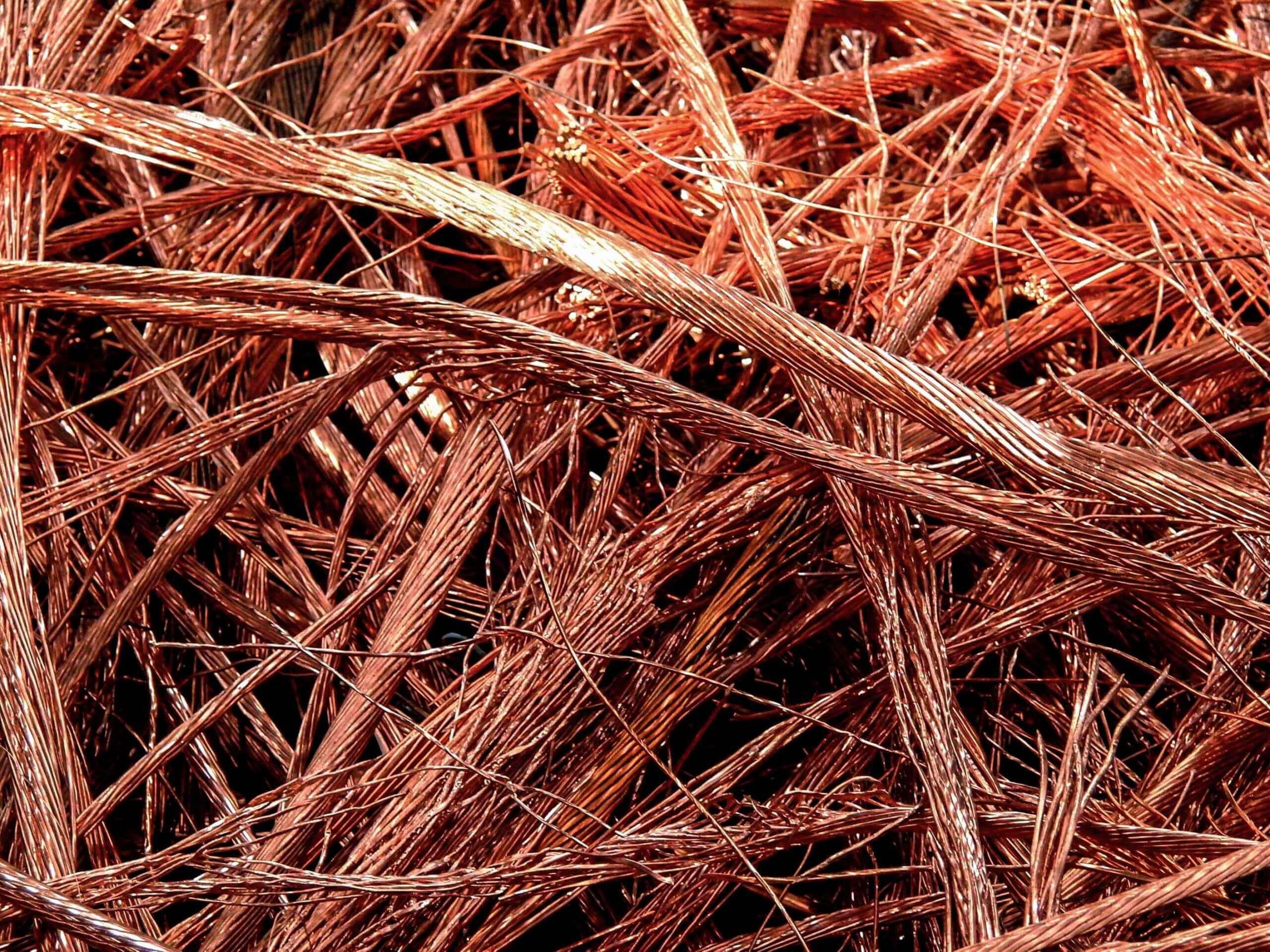Copper wire and copper shavings