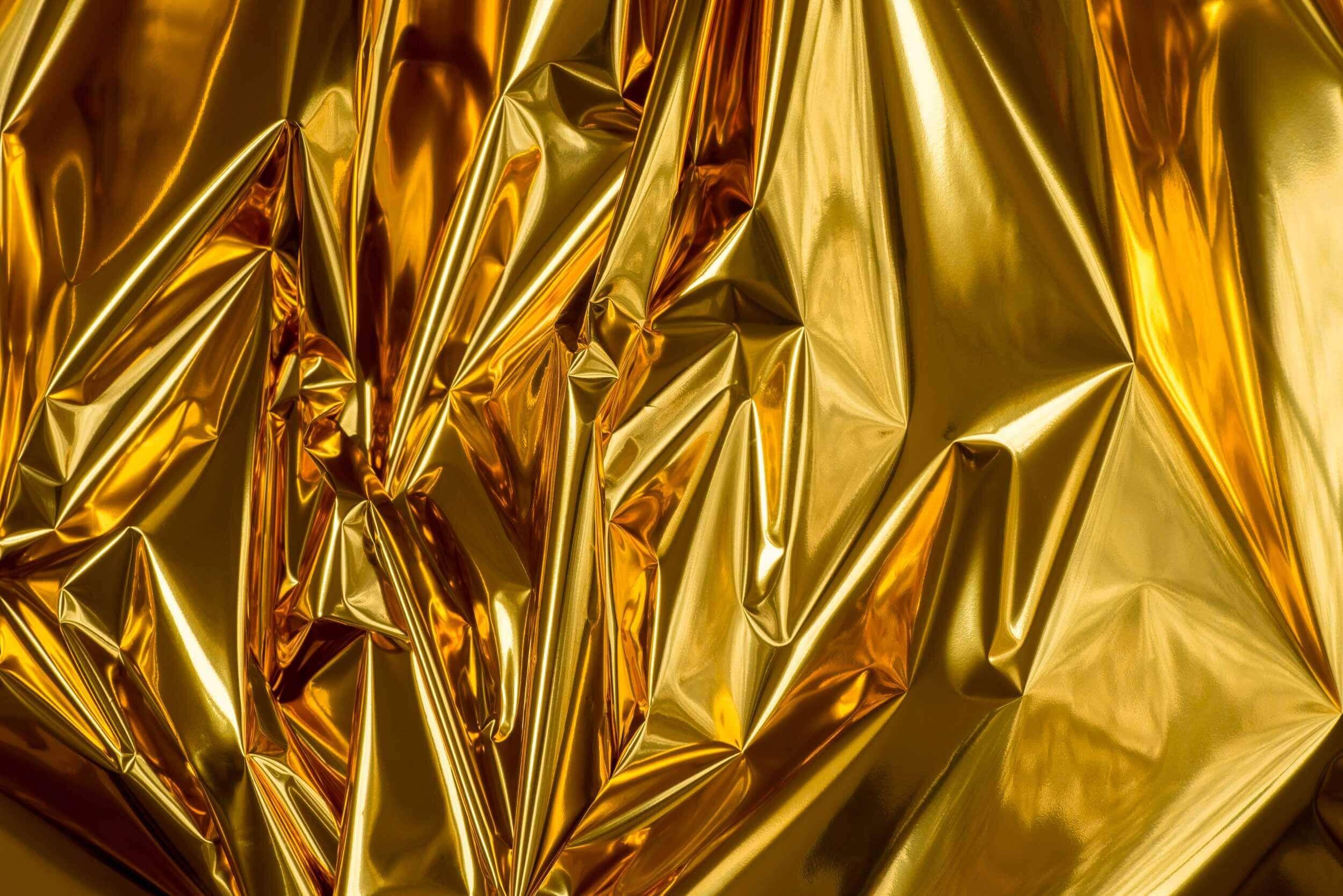 Folie aus Metall vor der Wiederverwertung