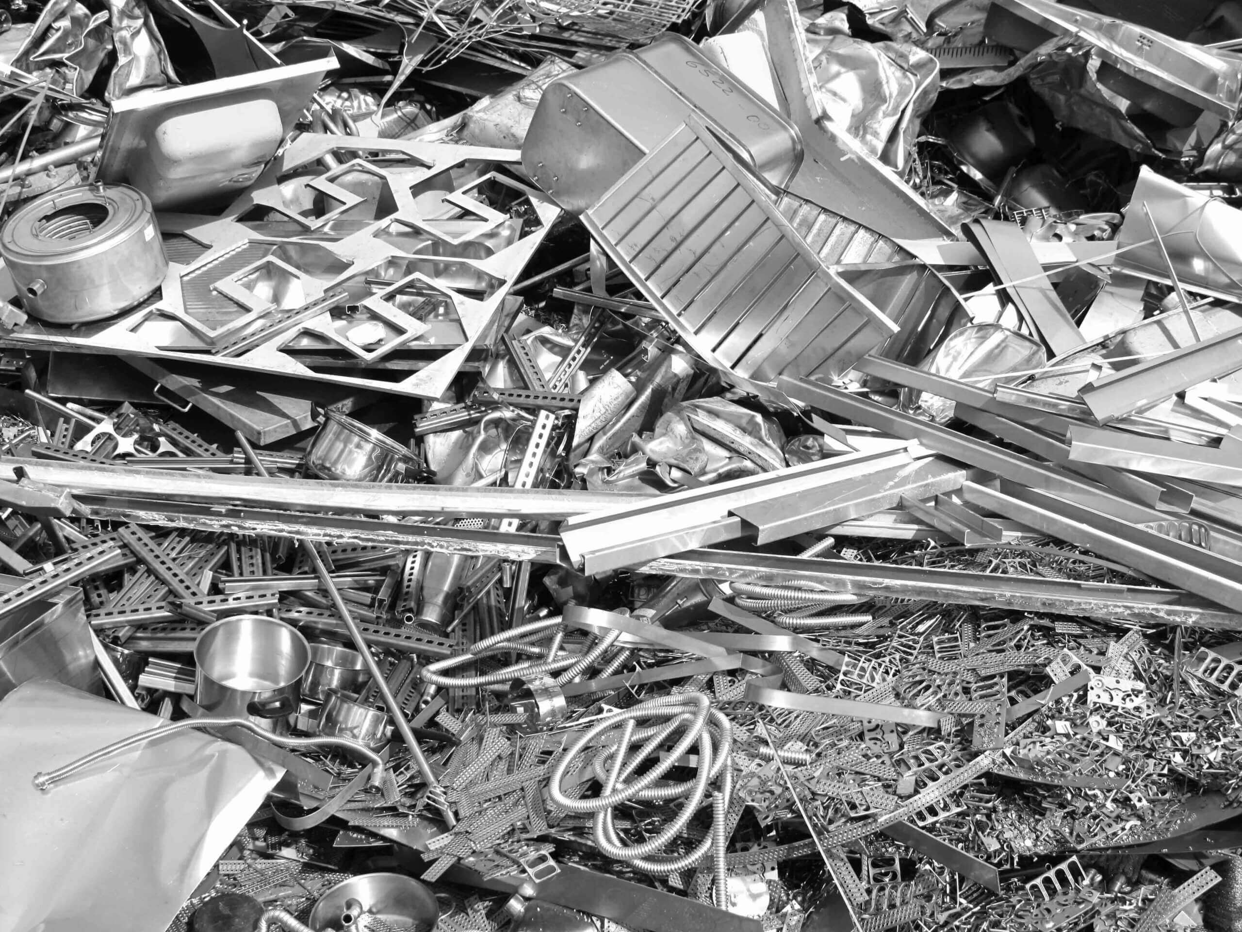 Metal scrap before shredding