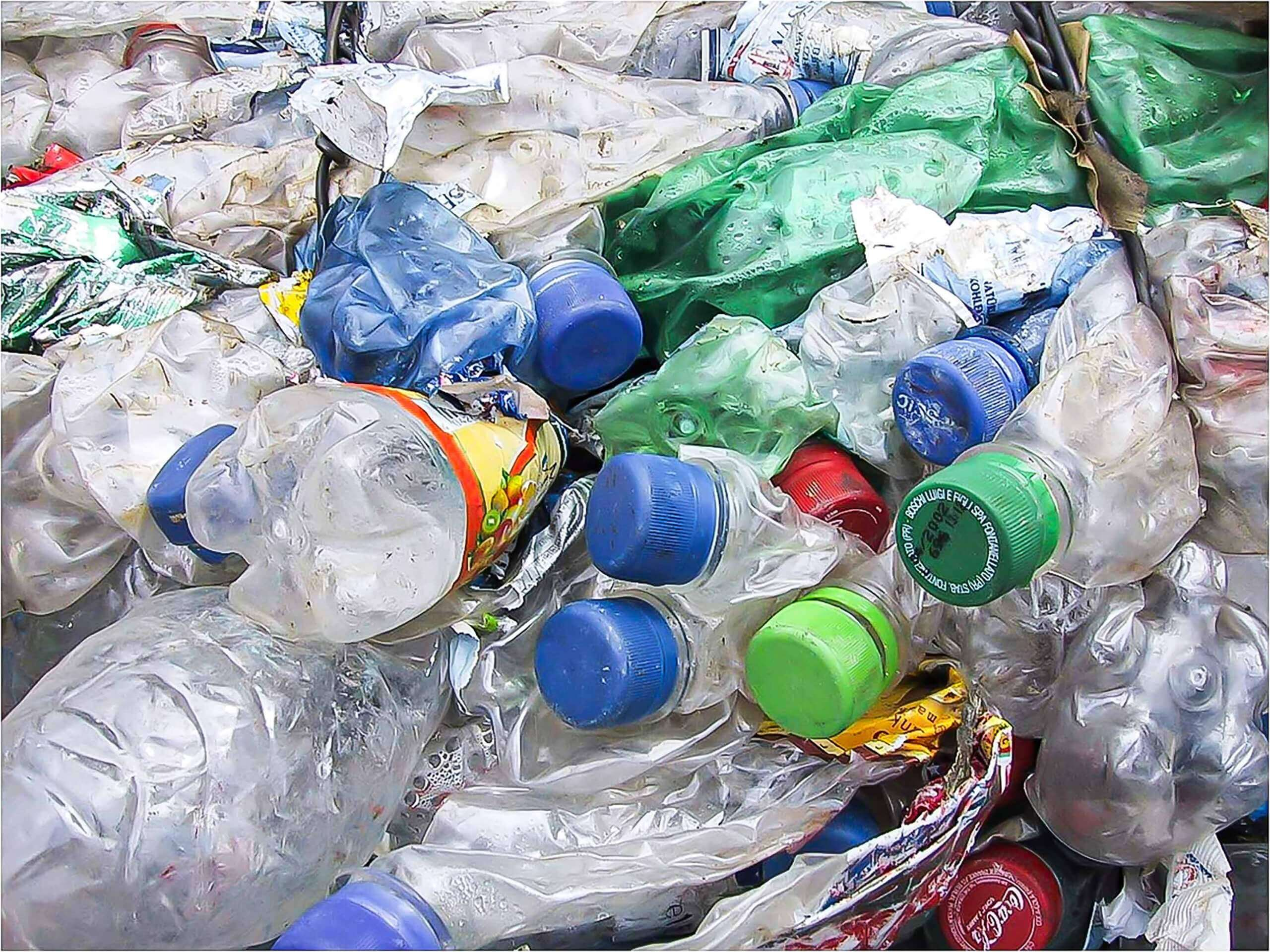 PET bottles are shredded in the recycling process with WEIMA shredders