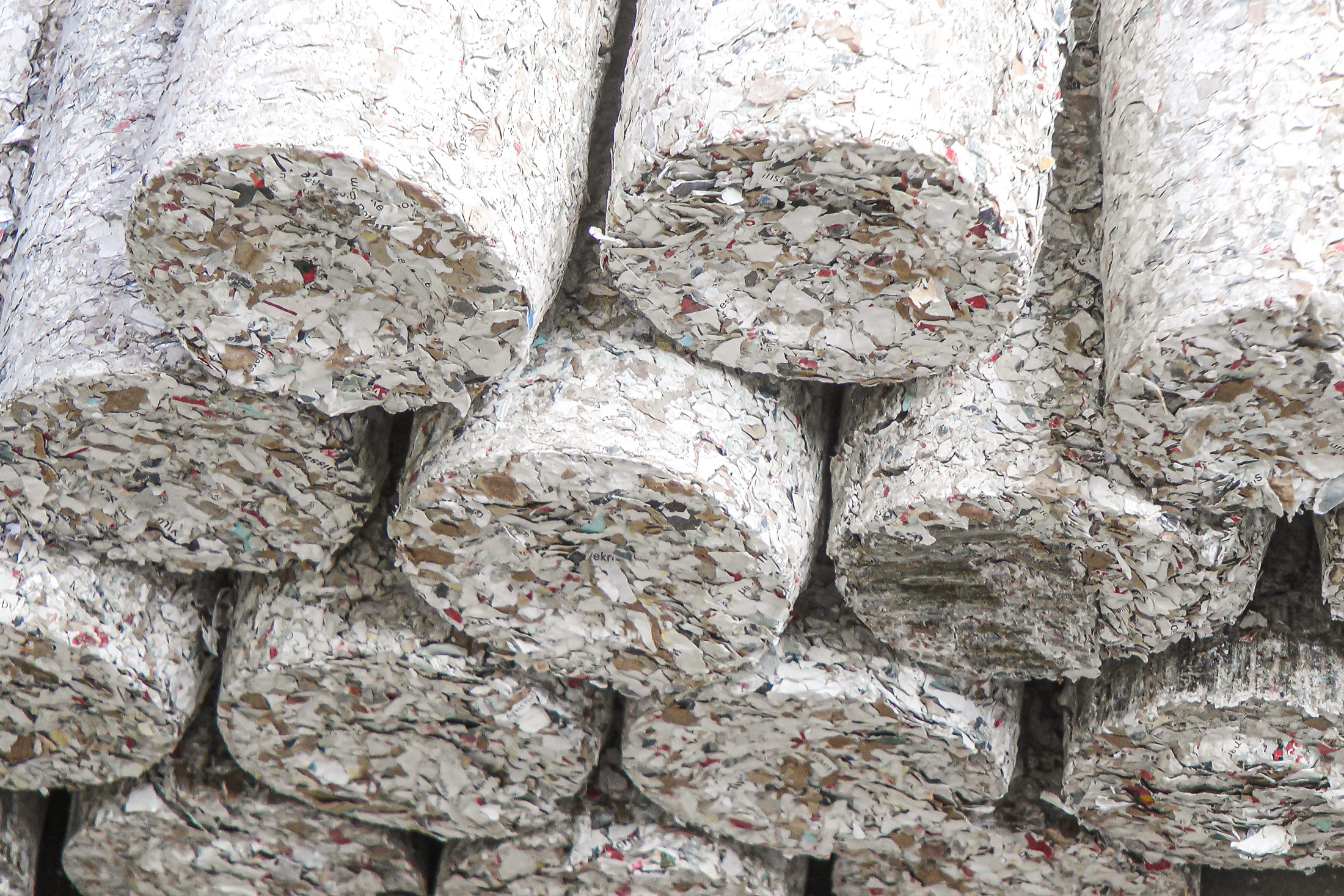 Briquettes from paper documents