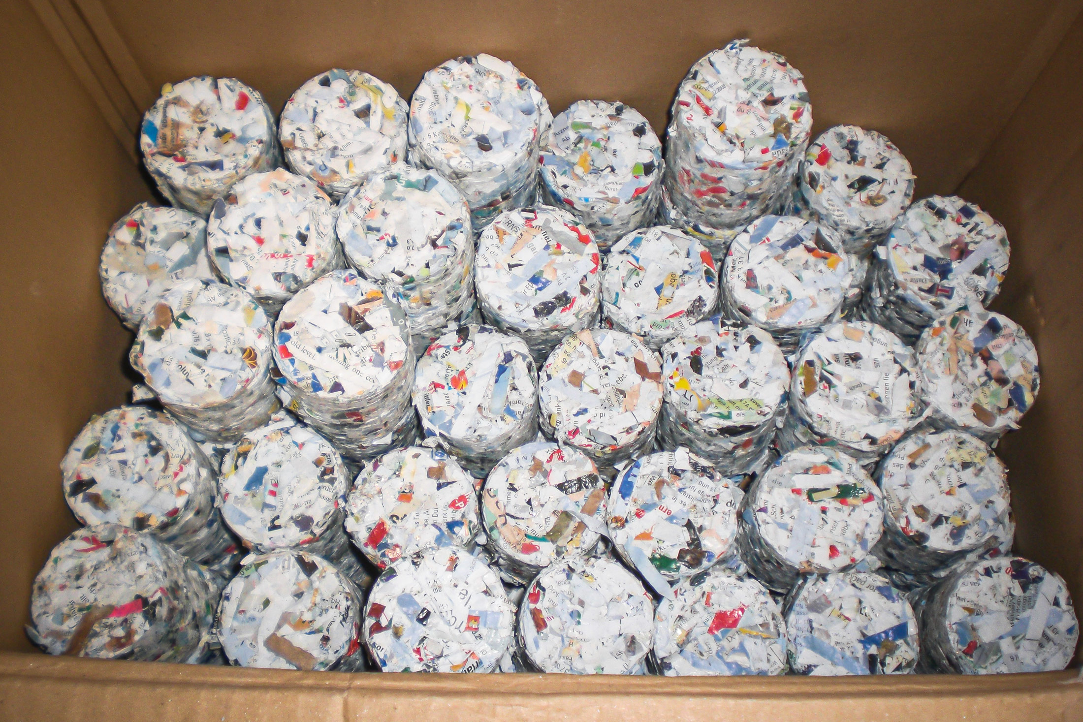 Briquettes from paper waste