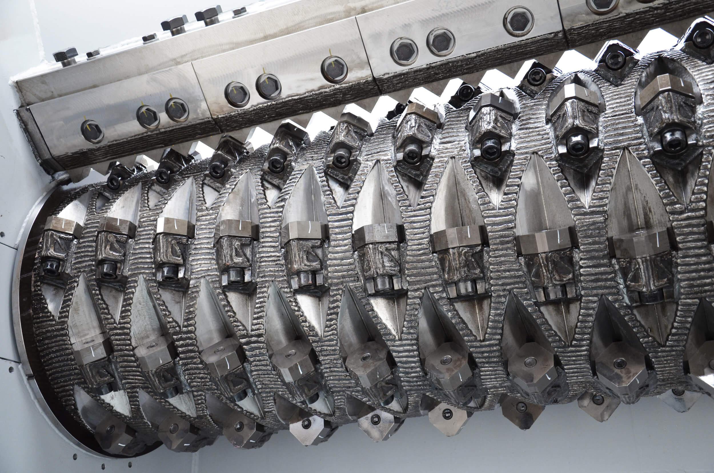 Rotor des WEIMA PowerLine Zerkleinerers