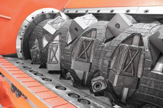 Rotor eines WEIMA PreCut Shredders