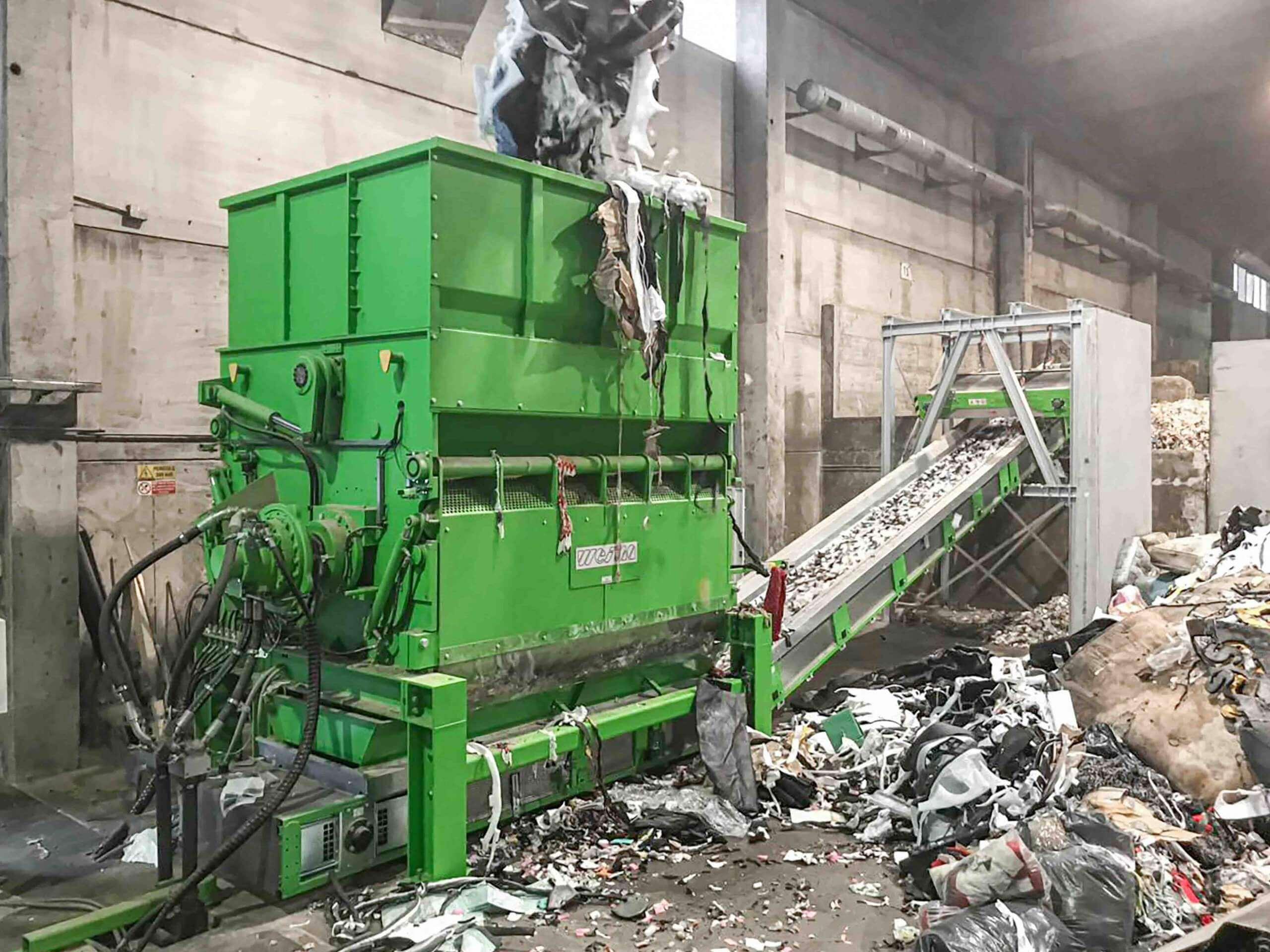 Produktionsabfälle werden mit WEIMA Zerkleinerer zu EBS aufbereitet