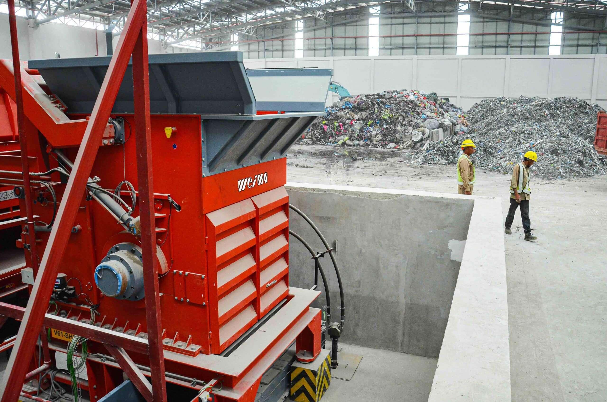 WEIMA Zerkleinerer shreddert Produktionsabfälle für EBS Herstellung