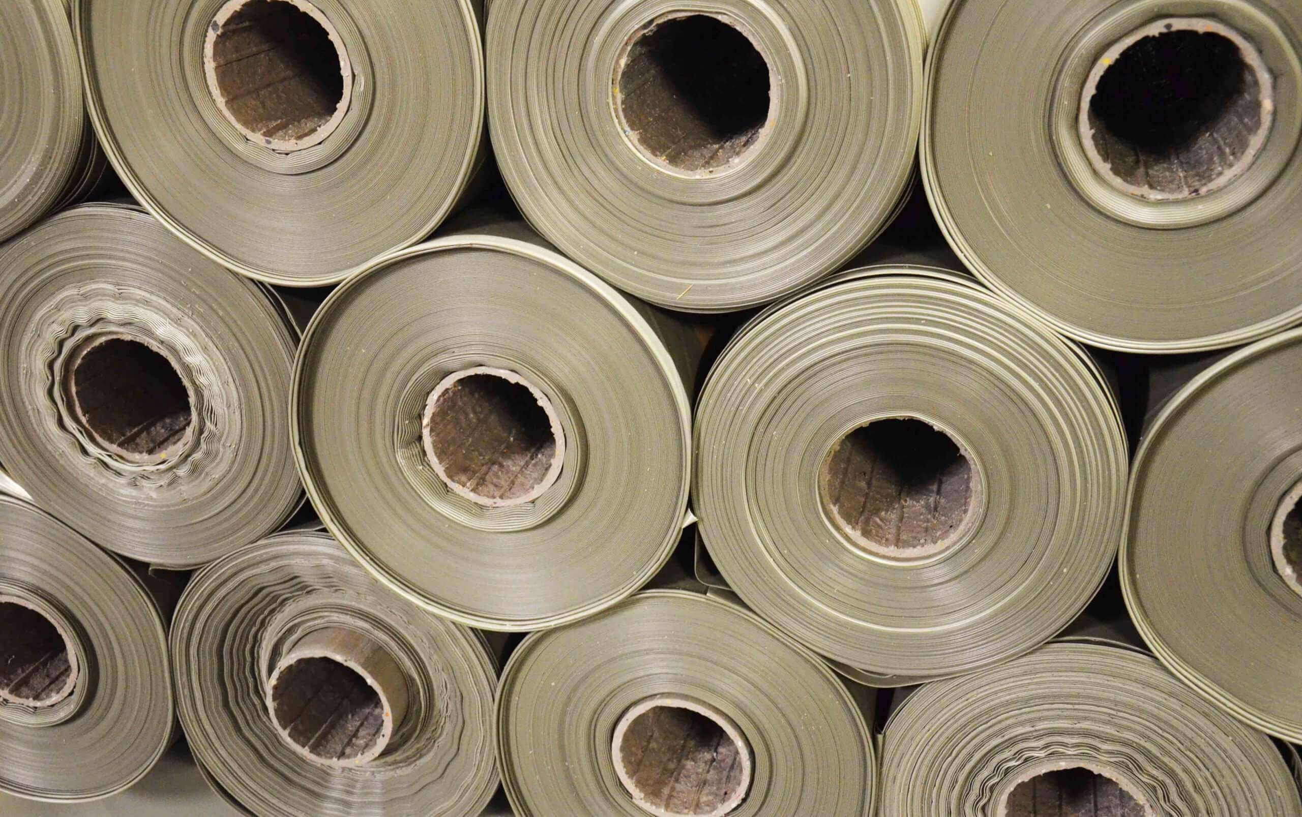 Recycled film is put on rolls for further use