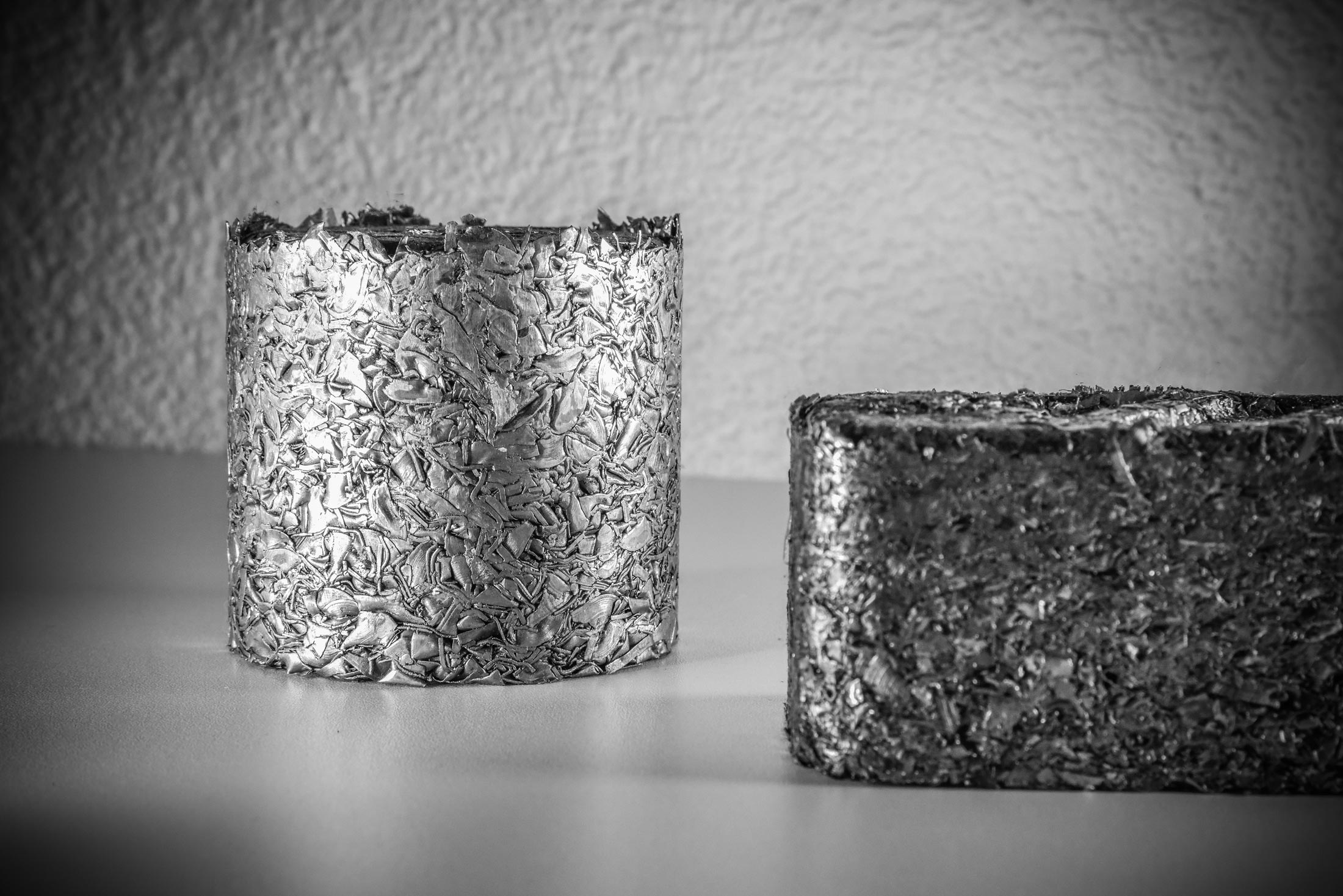Briquettes from steel