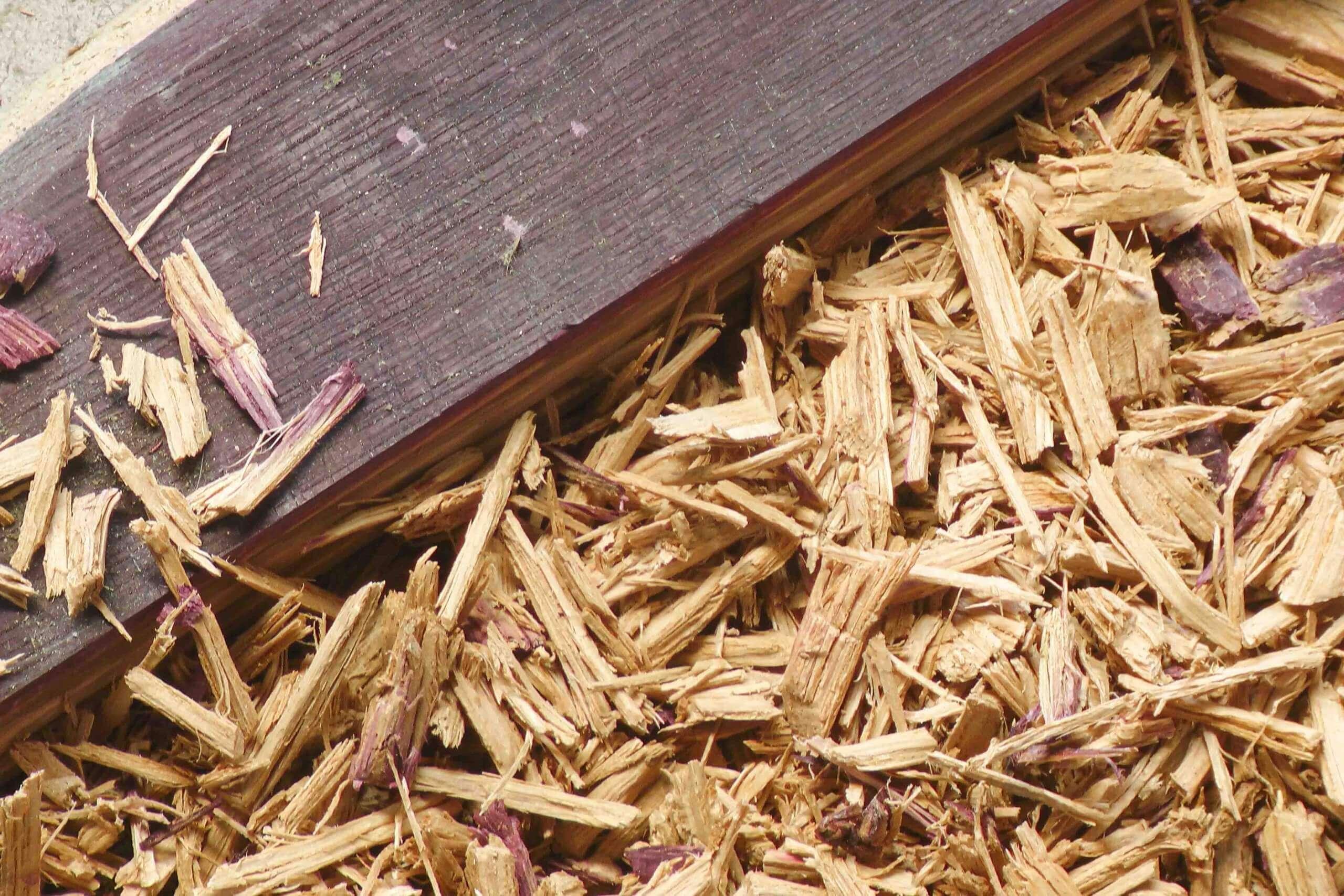 Wood scrap from old wine barrel lids