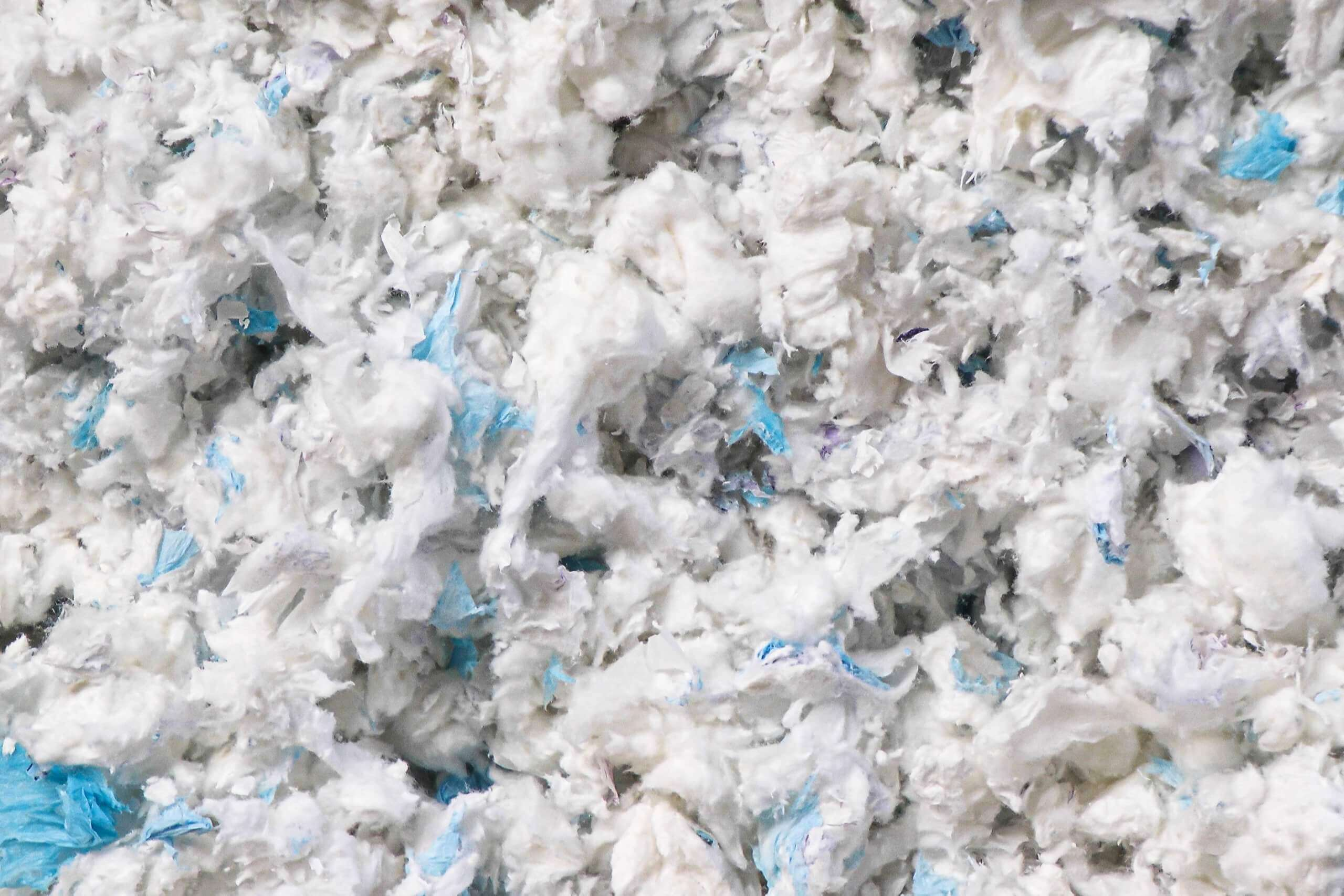 Shredding of Diapers makes the fibers recycable