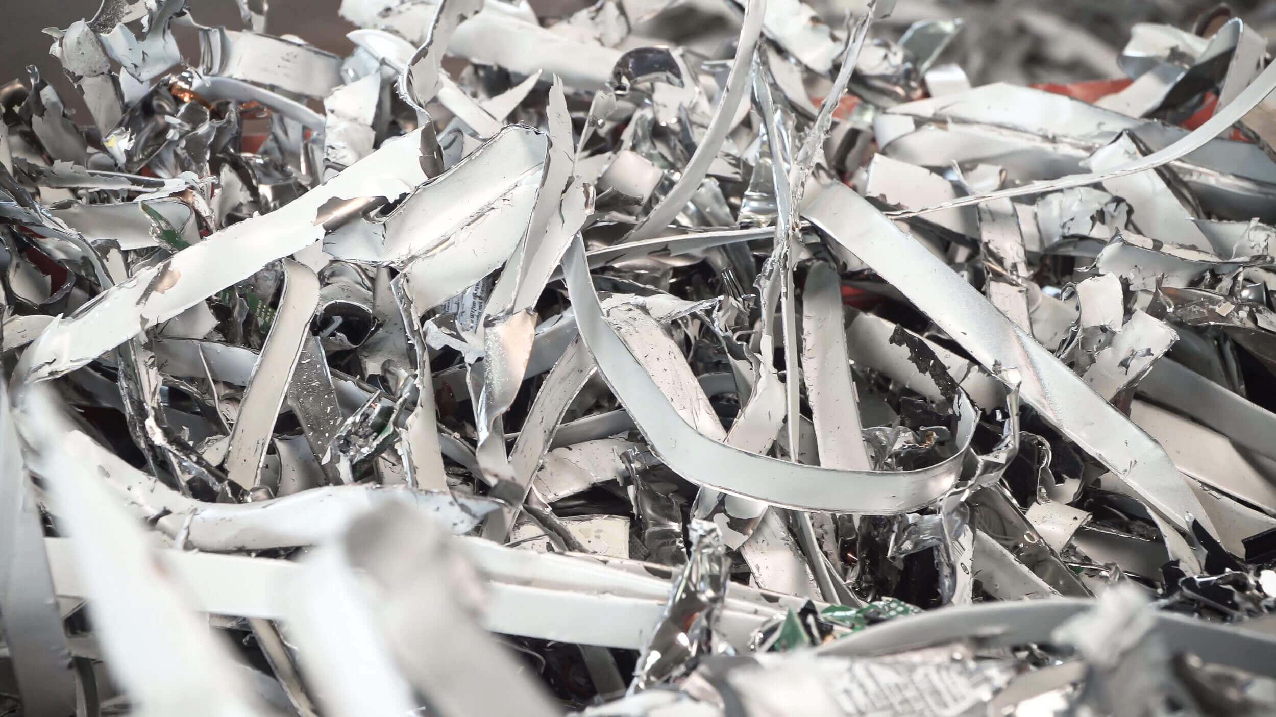 Electronic scrap metal housing sheet metal e-scrap