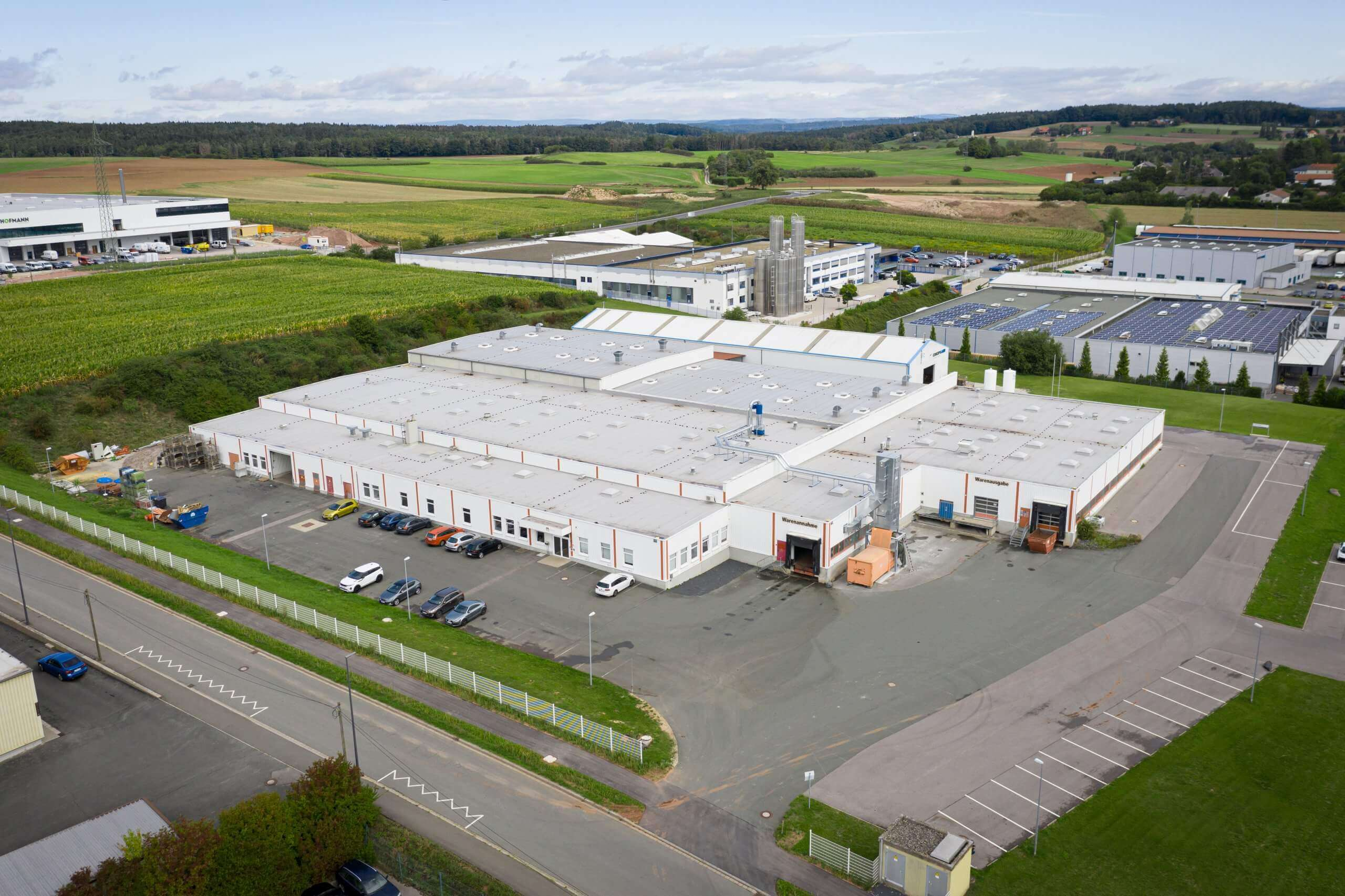 Aerial view of easy2cool GmbH in Lichtenfels, Bavaria