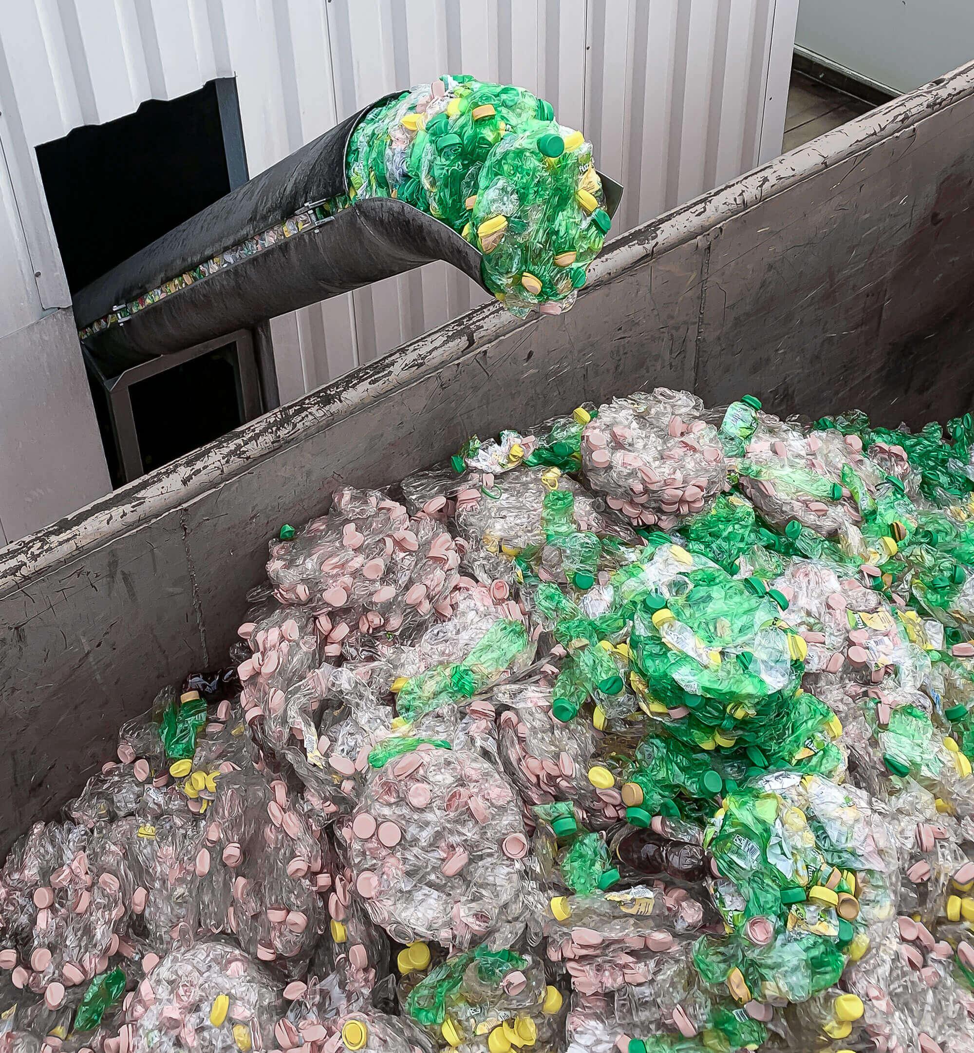 PET-Flaschen Abfall Verdichtung