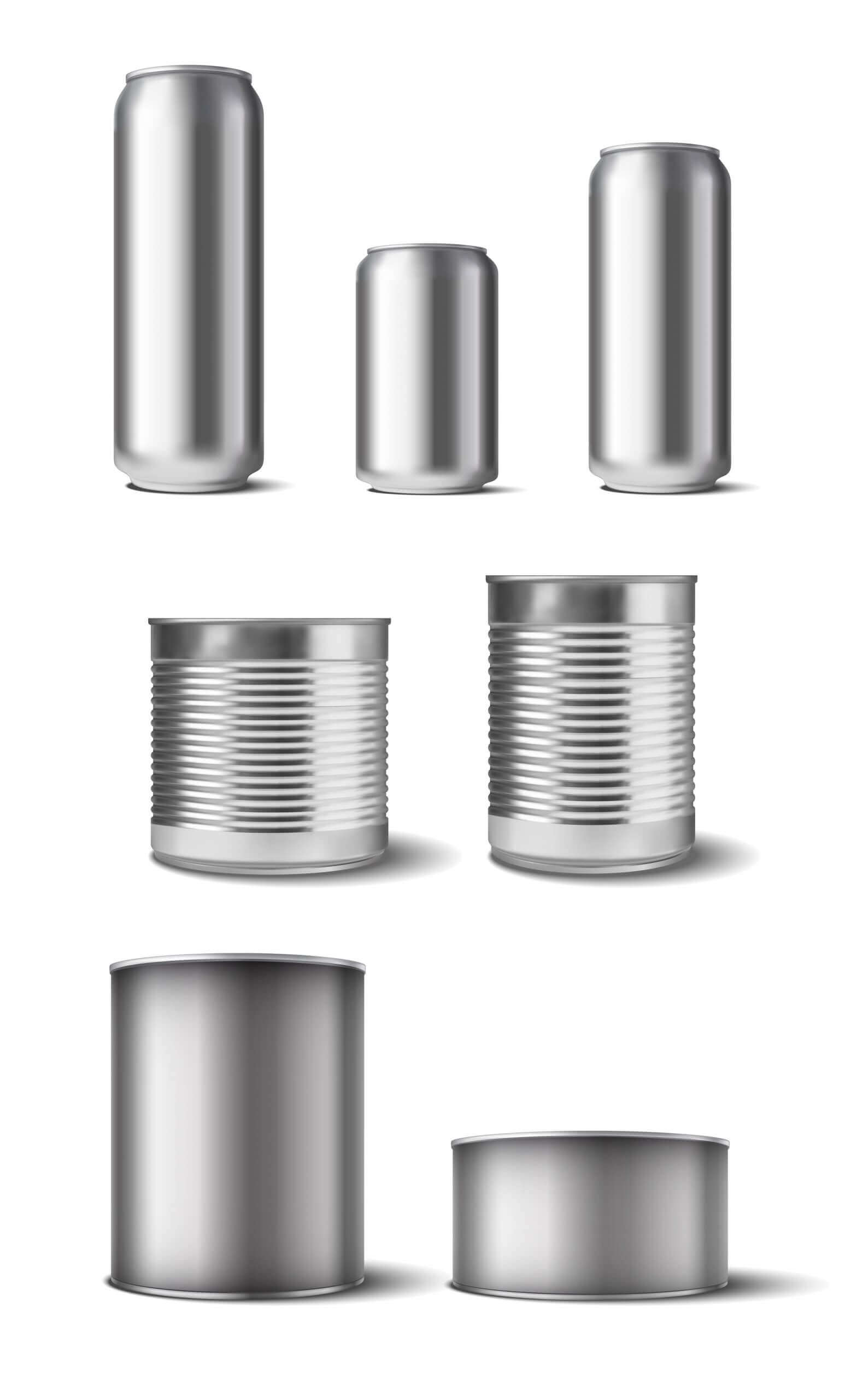 Overview of types of cans that can be drained with PUEHLER machines