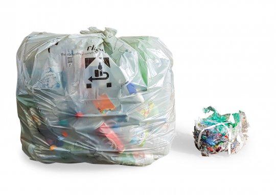 Kunststoff Verpackungen Verpressung vorher/nachher