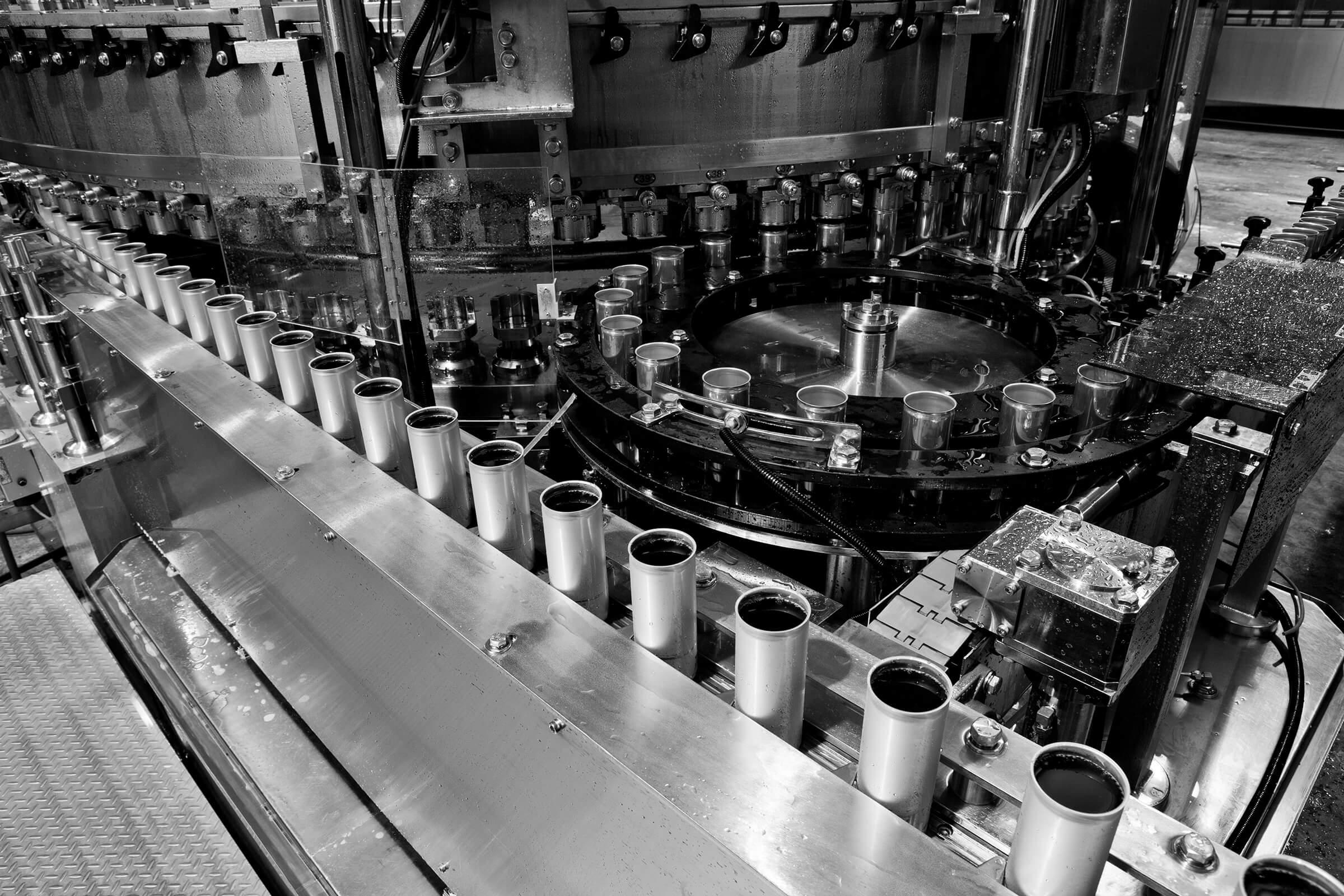 Getränke Aluminiumdosen Abfüllung Ausschuss