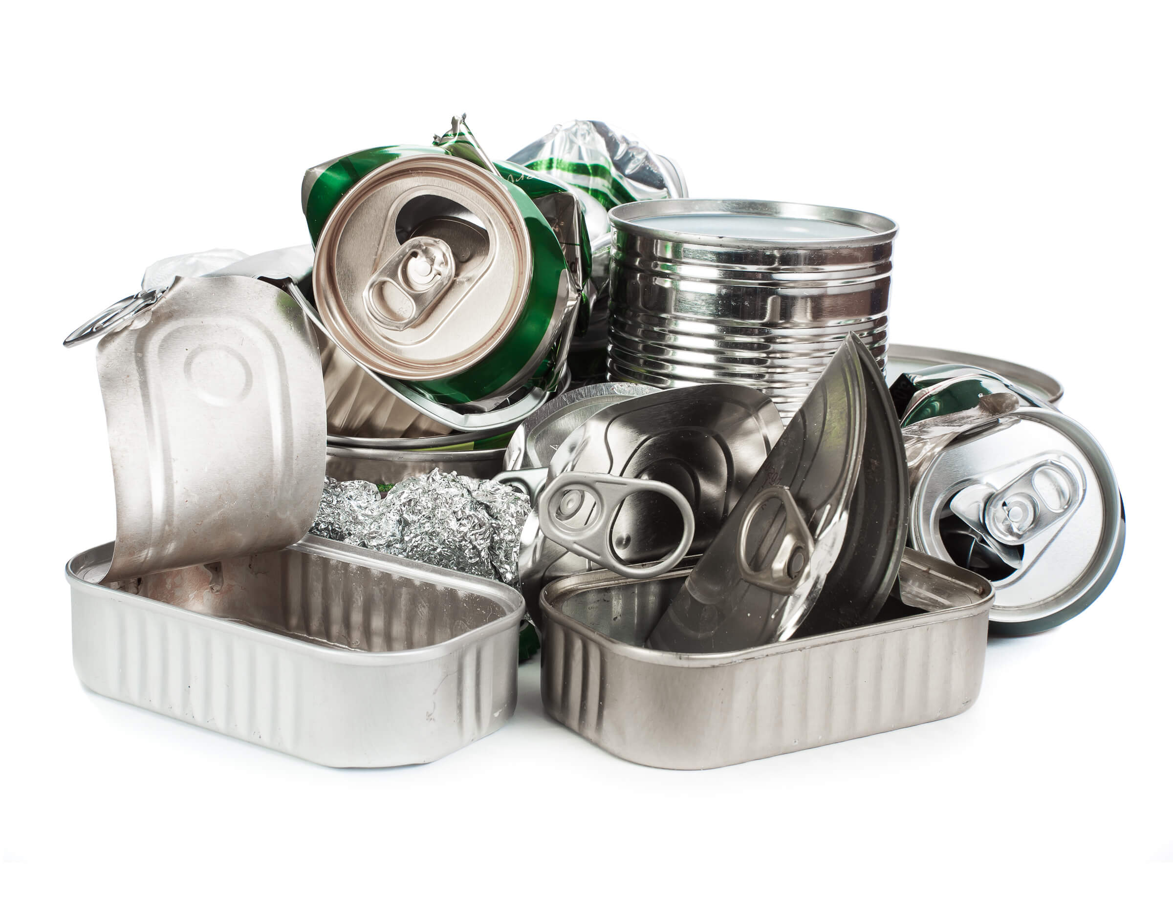Waste from production such as food cans and aluminium cans