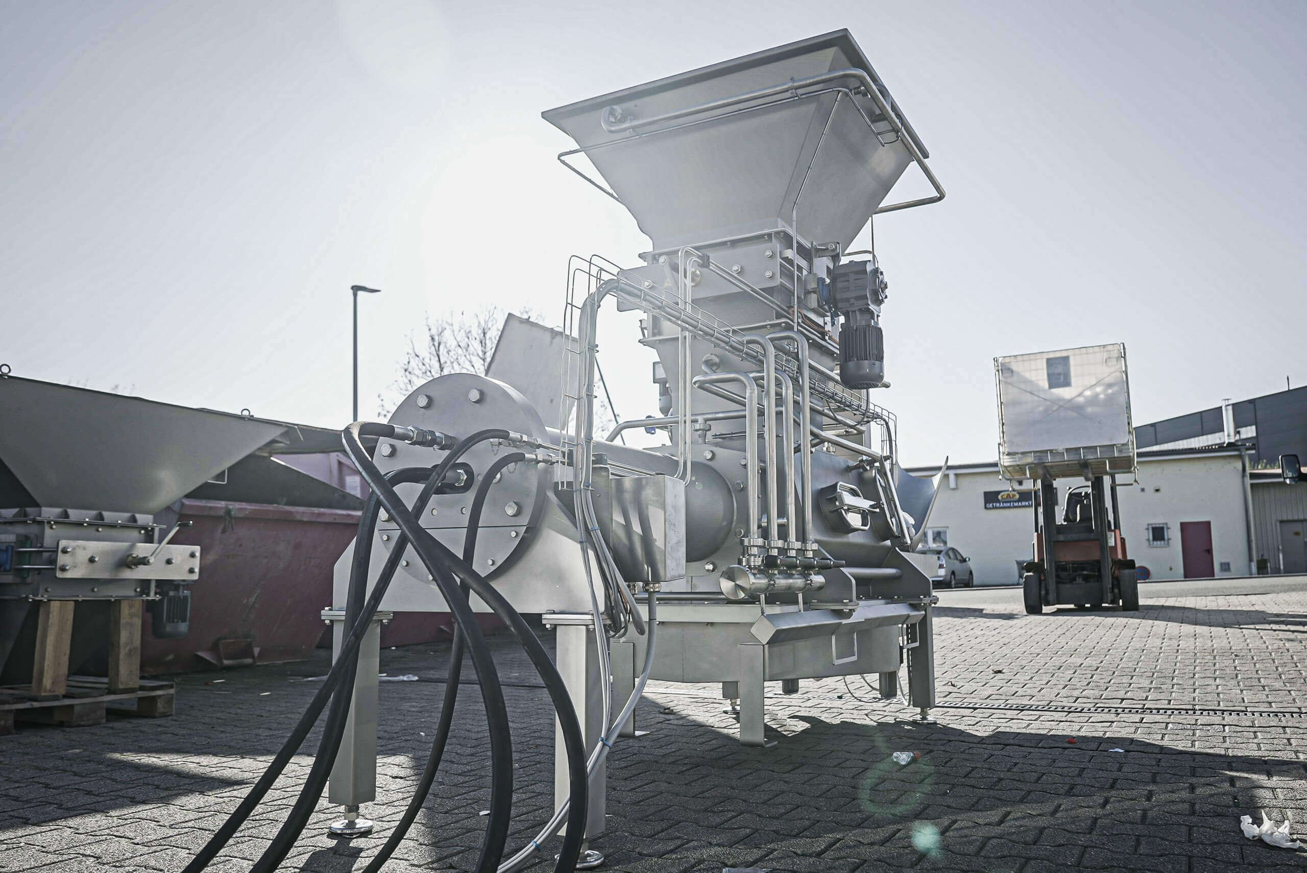PUEHLER drainage machine for the rework process