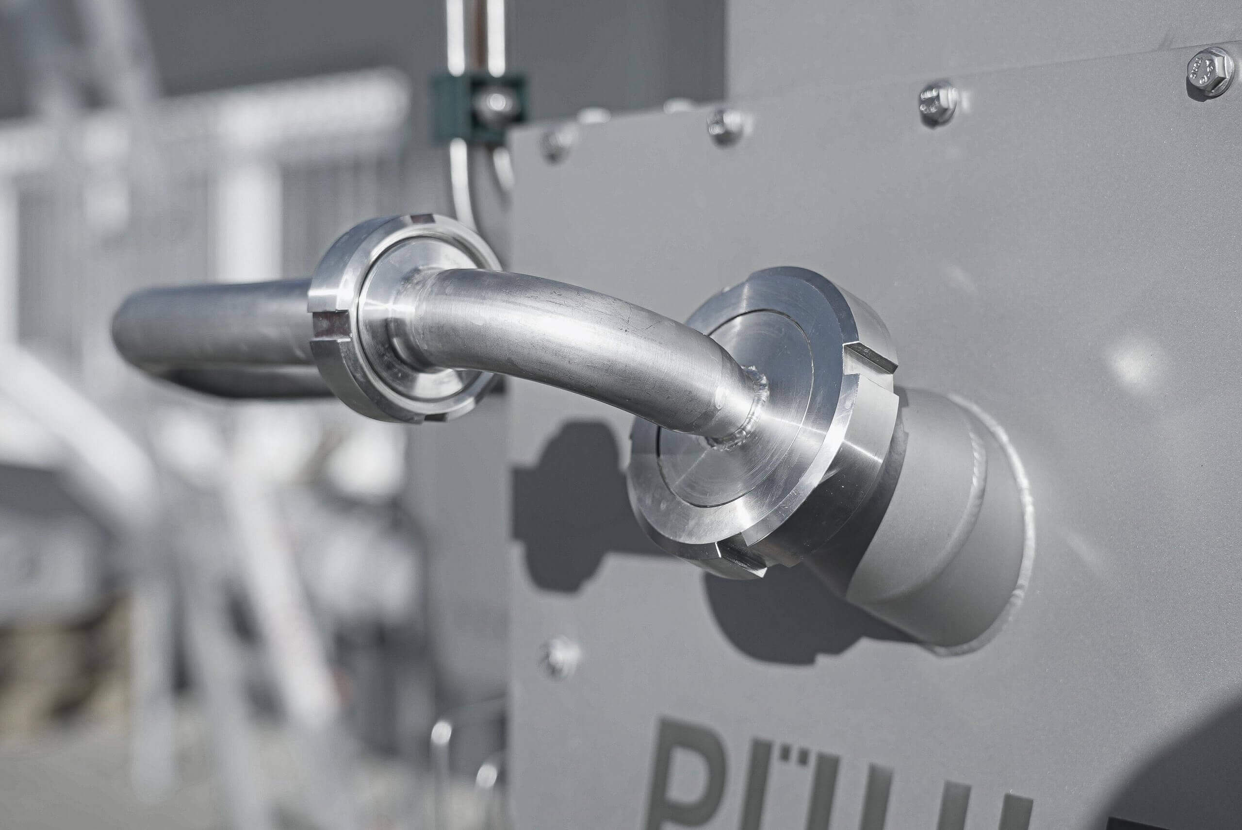 PUEHLER draining presses are made of high quality stainless steel