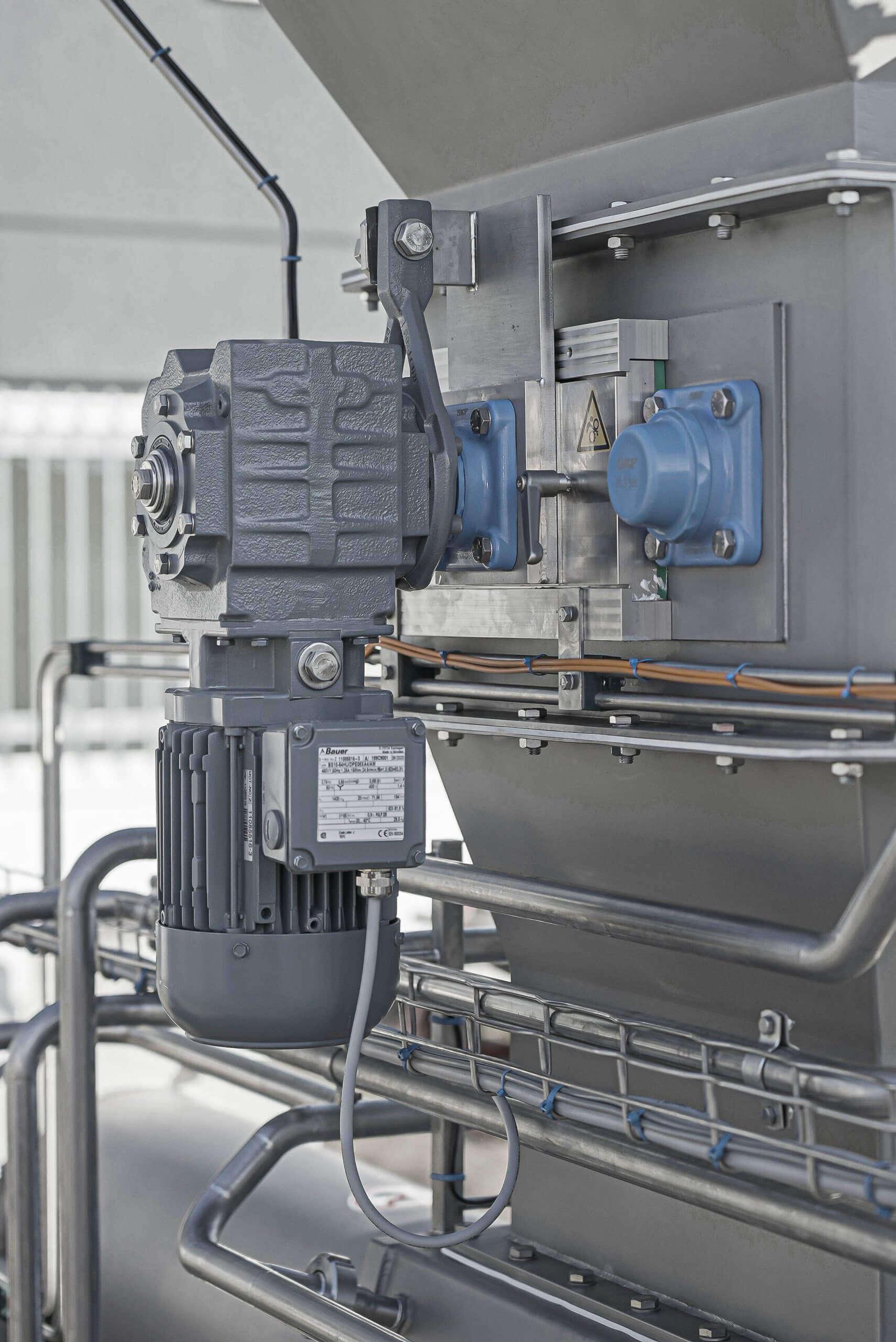 Rohre der ReWorkpresse für das Reinigungssystem