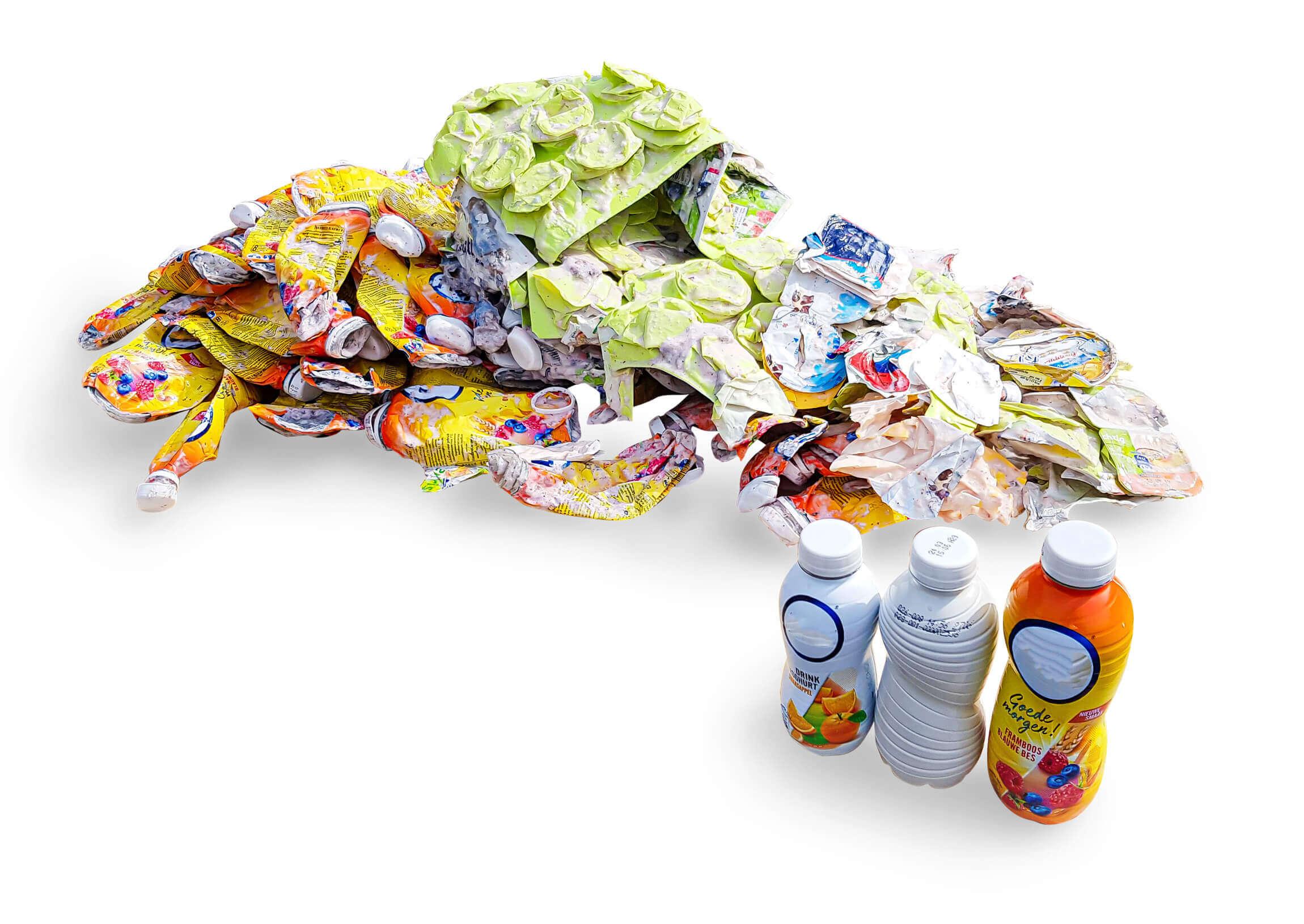 Verpresste Plastikflaschen