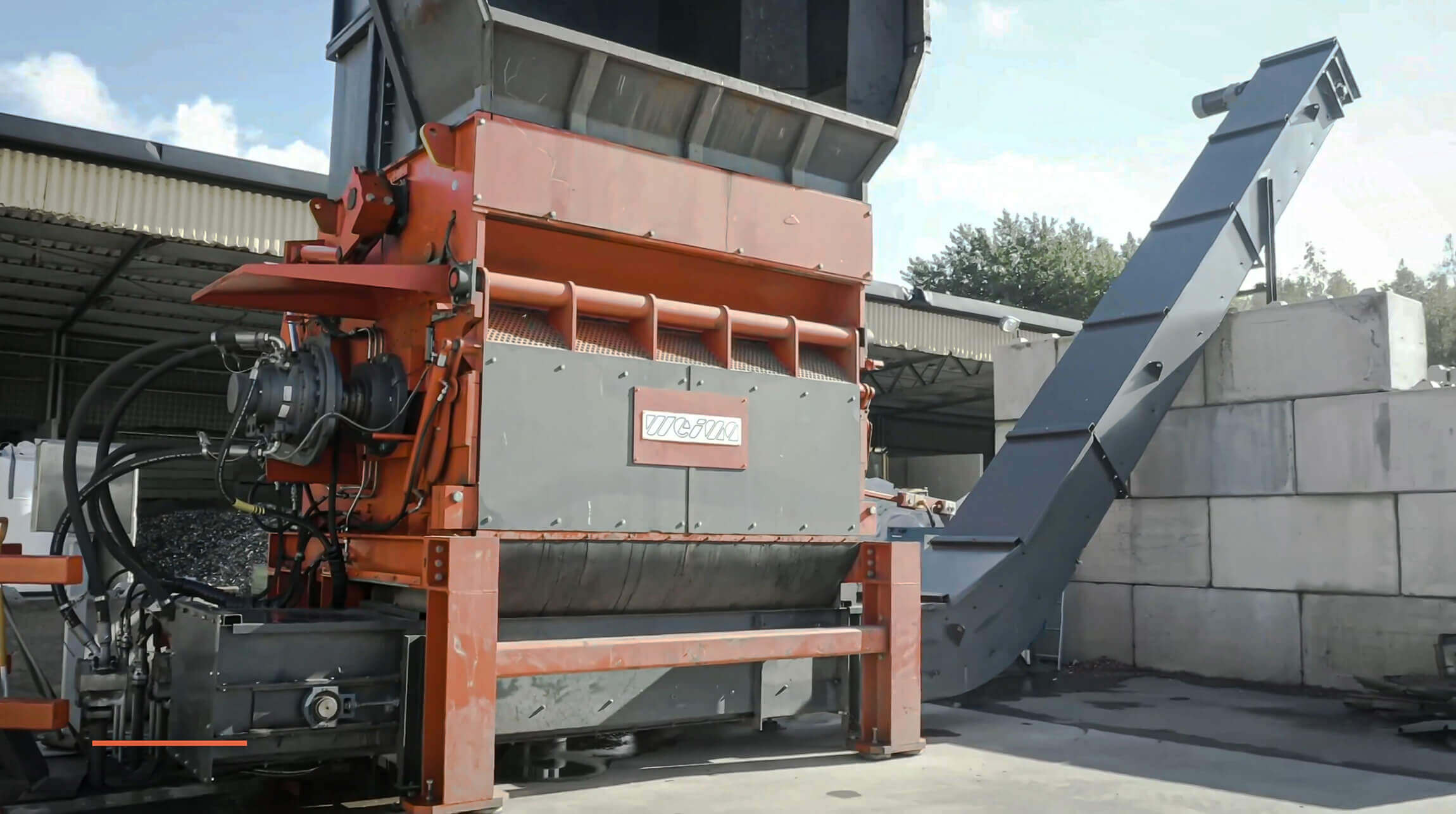WEIMA PowerLine 2500 Kunststoff Abfall Shredder