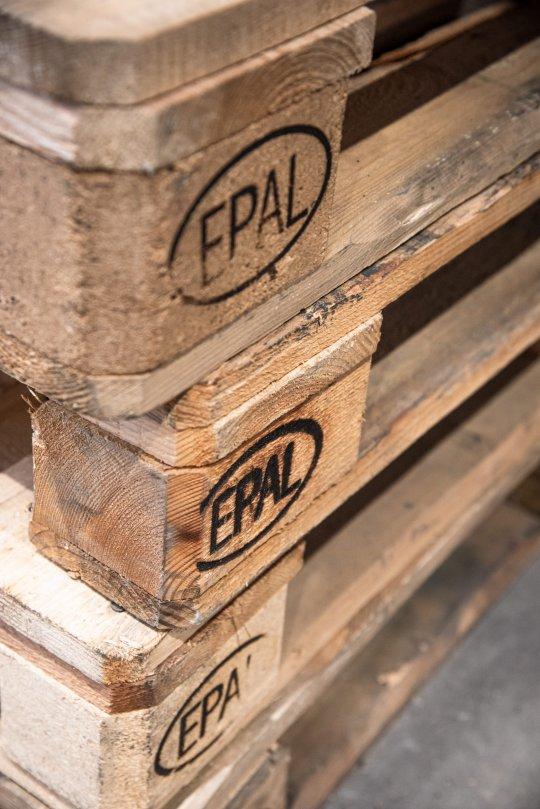 Stacked EPAL Europool palettes