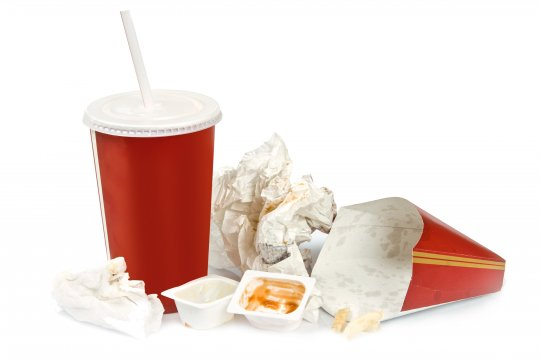 Waste from fast food packaging such as McDonalds and Burger King