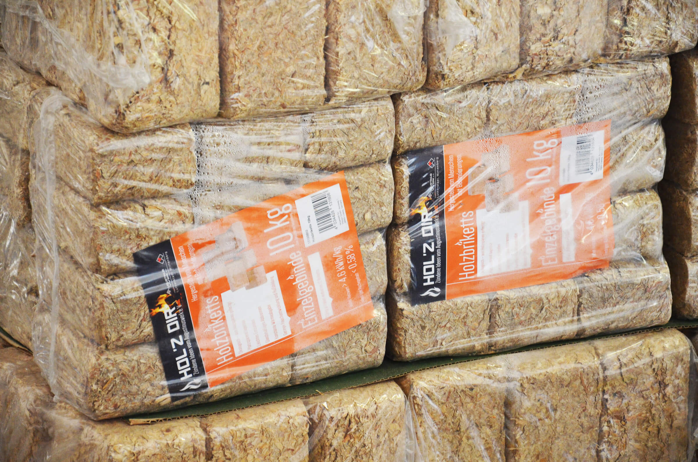 Packaged wood briquettes for sale