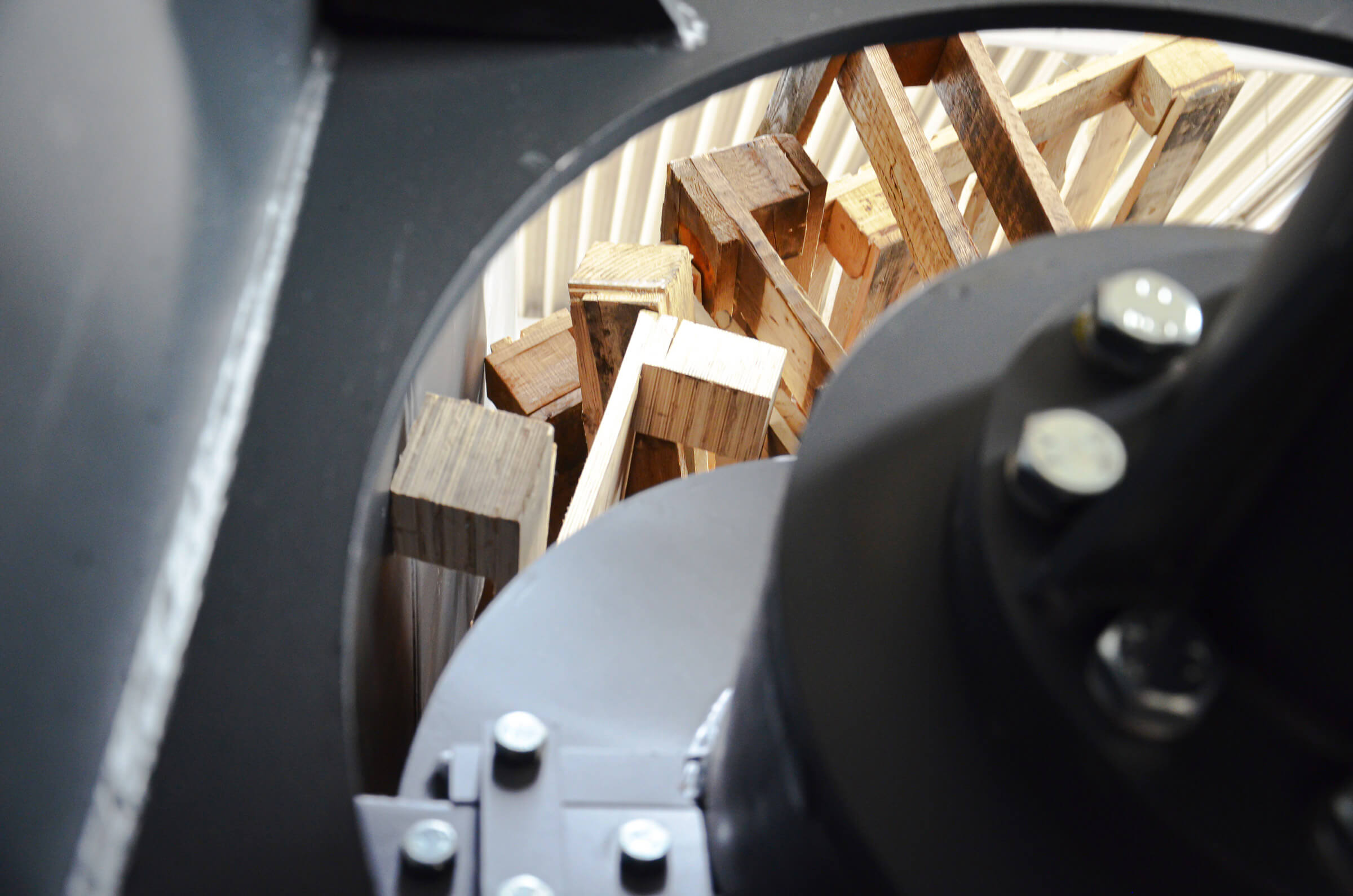 Interior view of the WEIMA Woodwolf