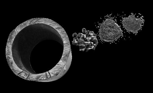 HDPE Rohr, Mahlgut, Granulat, Regranulat
