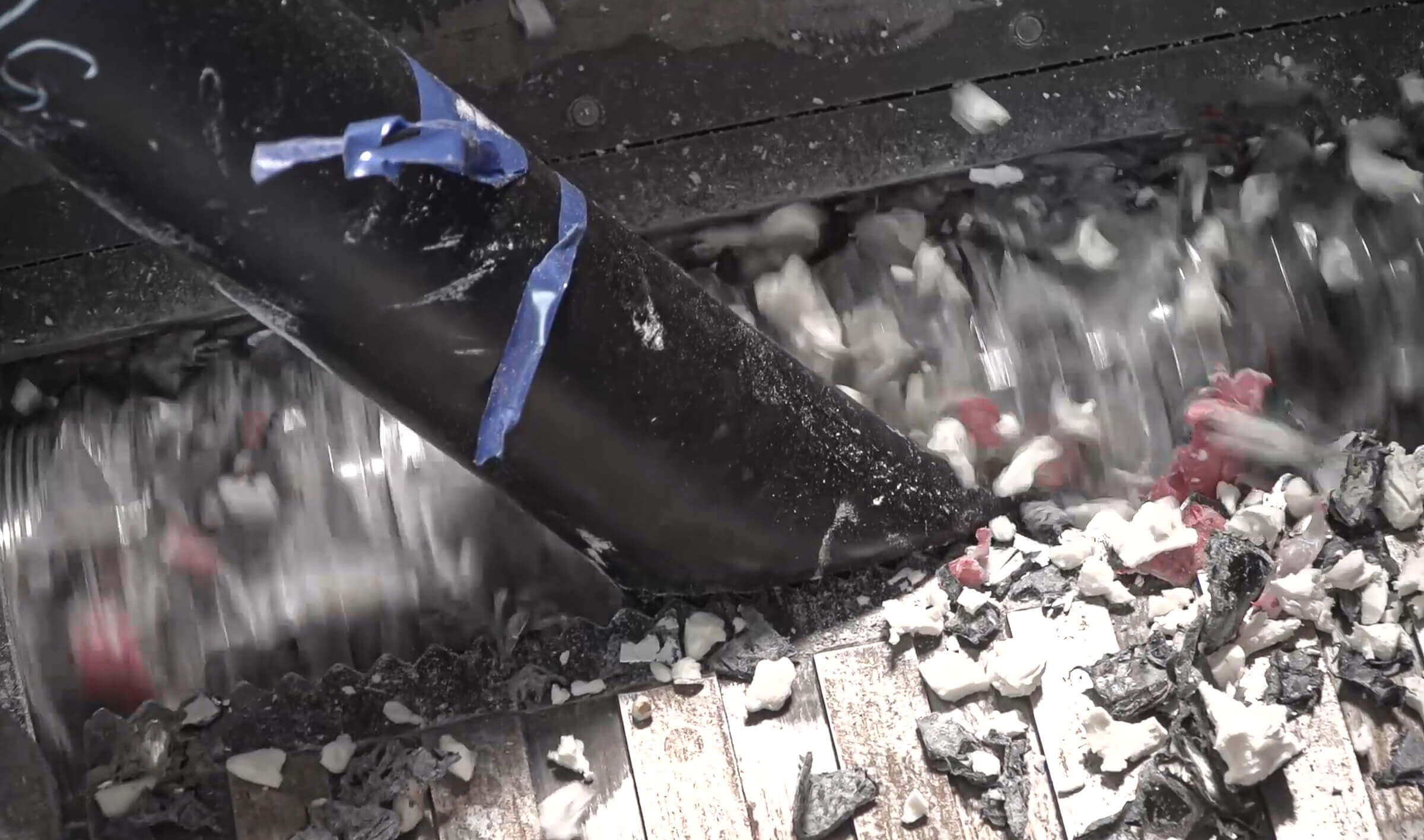 Shredding of channel ducts from HDPE