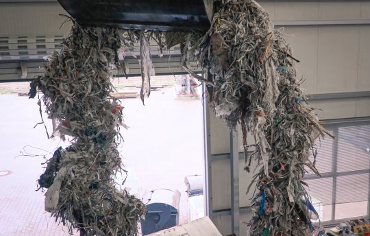 Pulper waste rope from paper production
